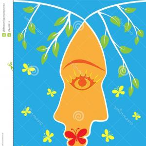 Kiss Clip Art Vector: Spring Kiss Vector Clip Art Young Man Woman Merged Atmosphere Image