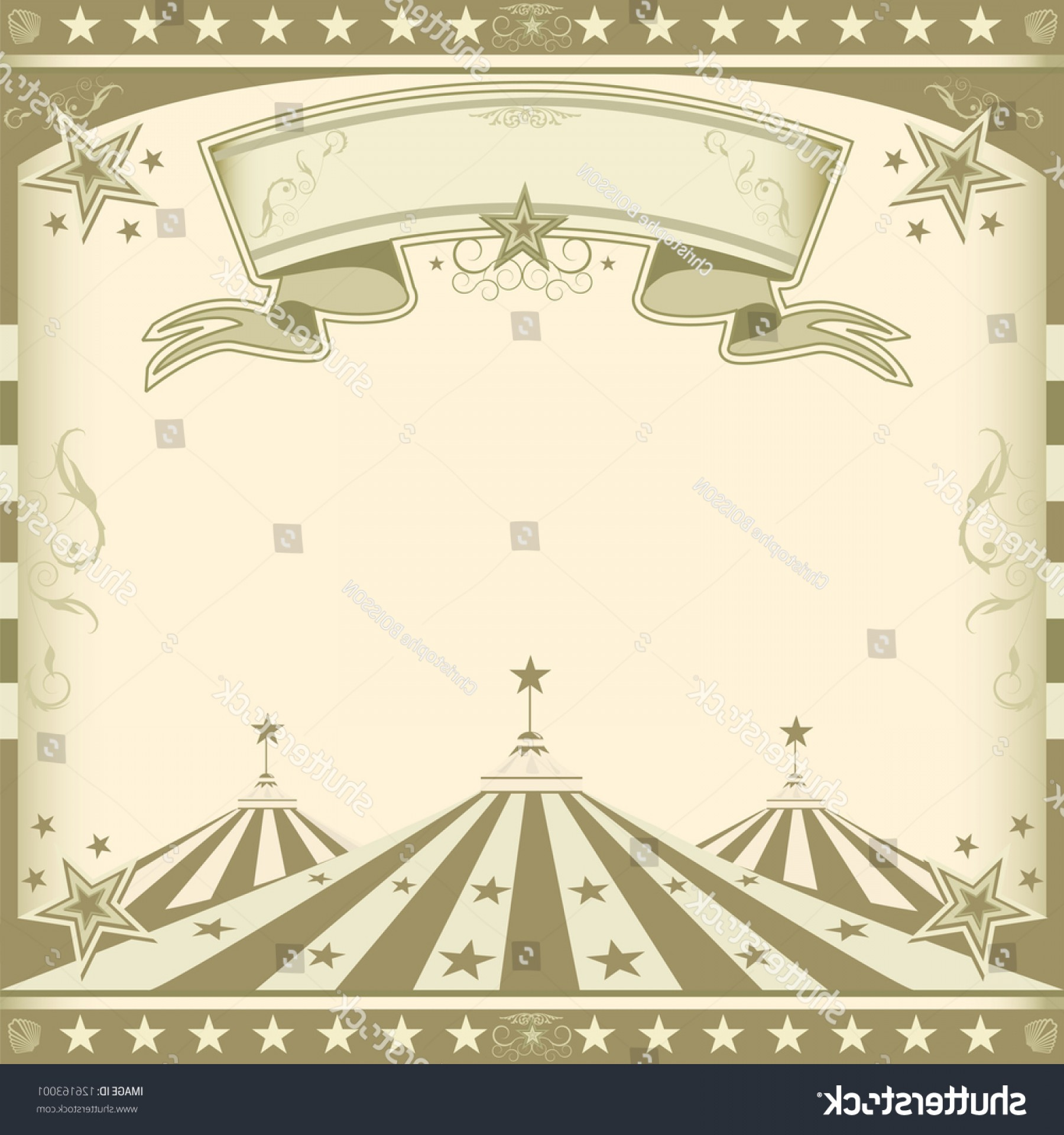 Circus Background Vector: Square Brown Vintage Circus Retro Background