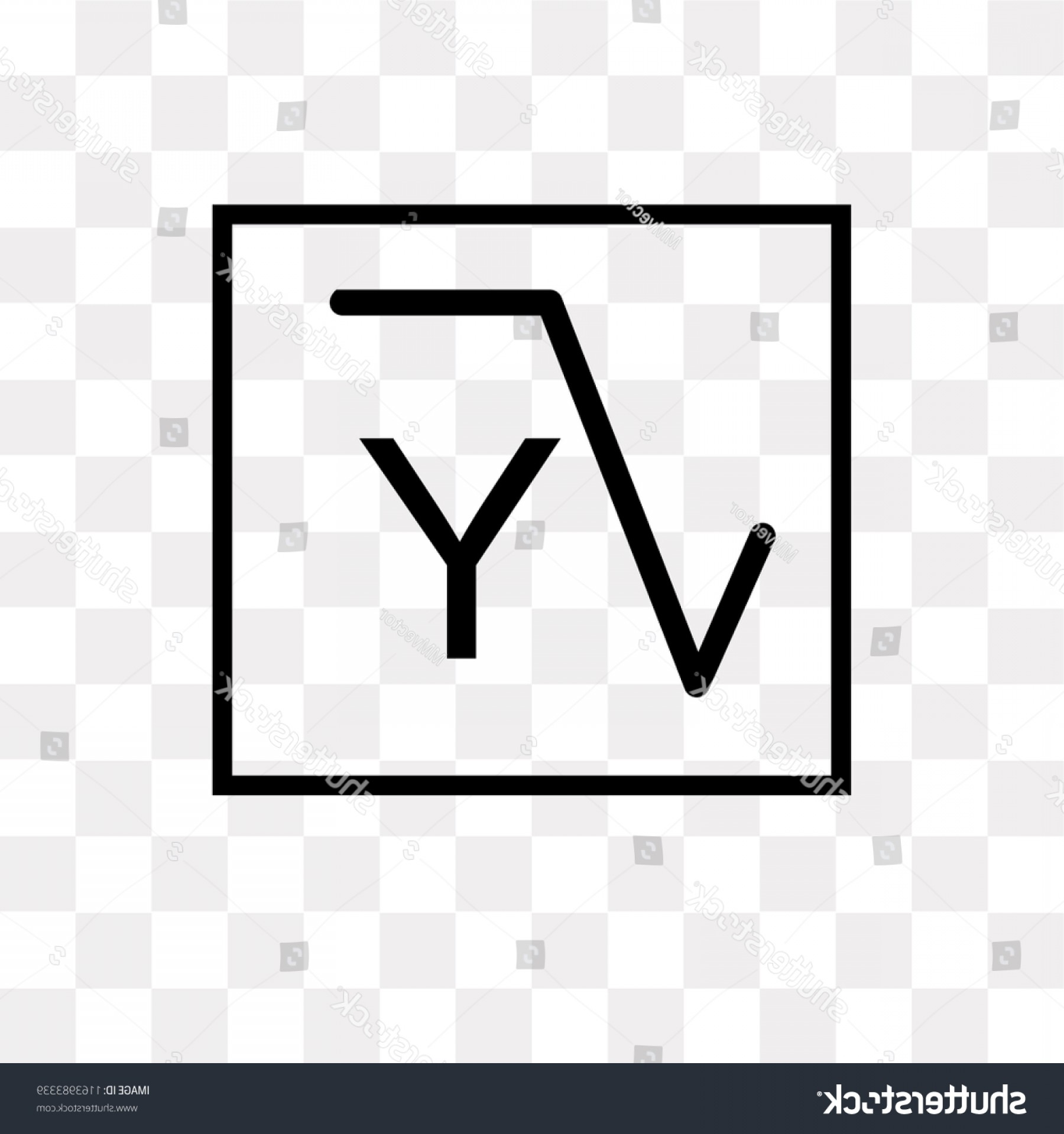 Transpearnt Vector Class: Square Root Class Vector Icon Isolated