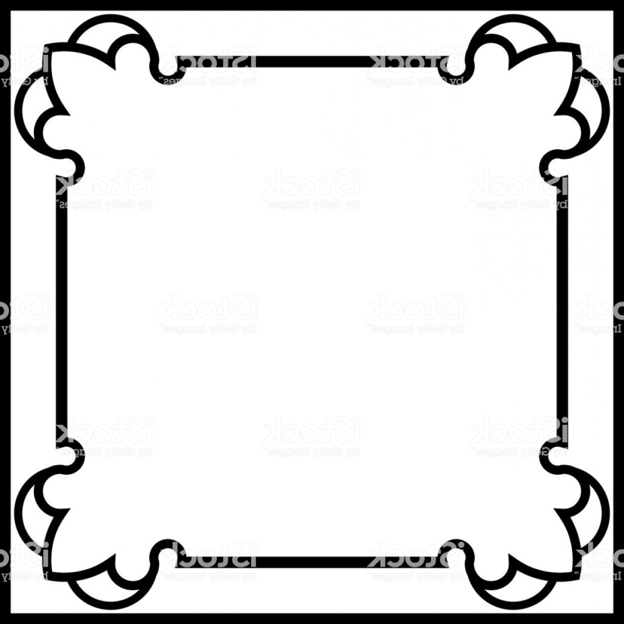 Square Black Vector Border Frame: Square Vector Border Frame Gm