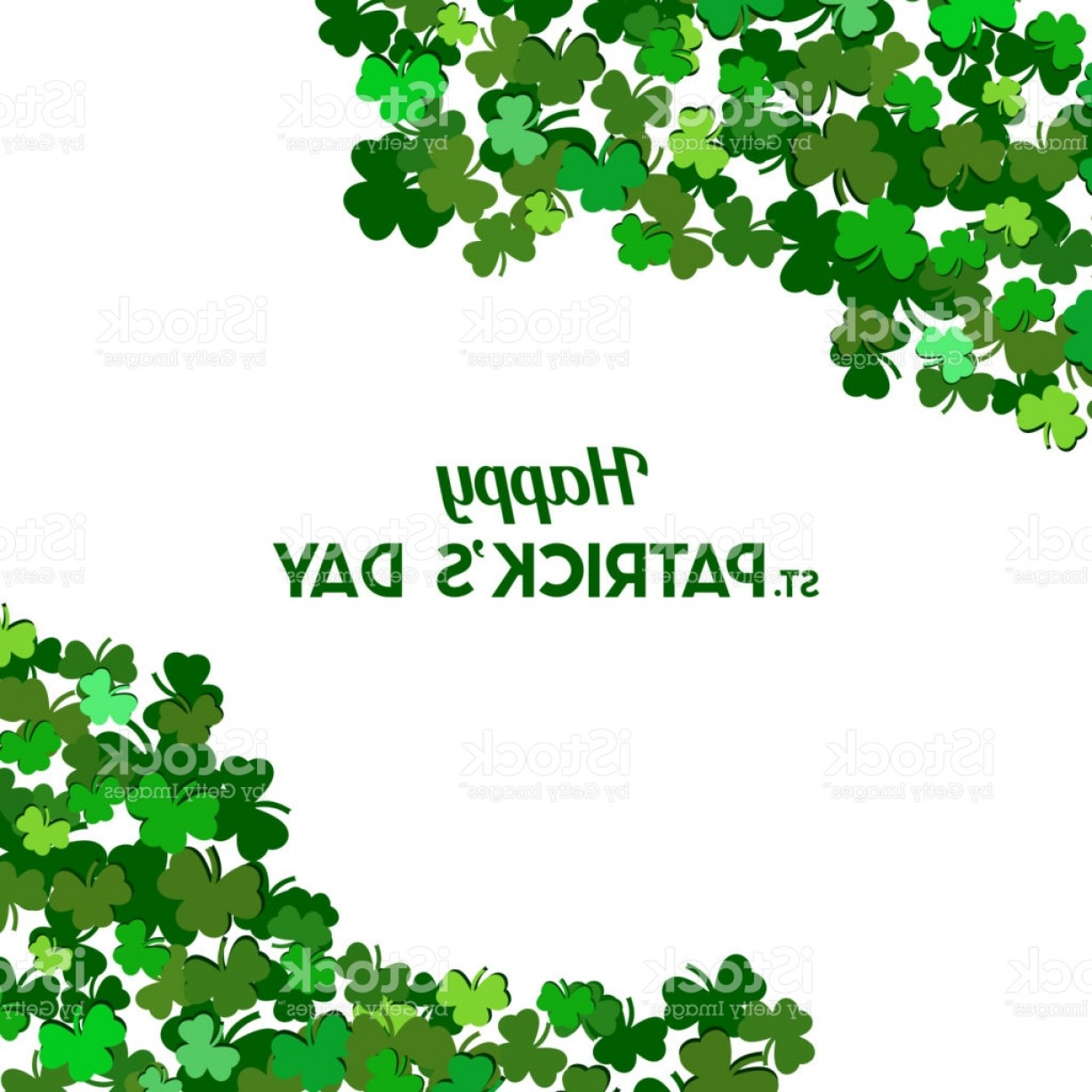 Vector Shamrock Ivory Color: St Patricks Day Vector Background With Shamrock Lucky Spring Symbol Clover In Green Gm