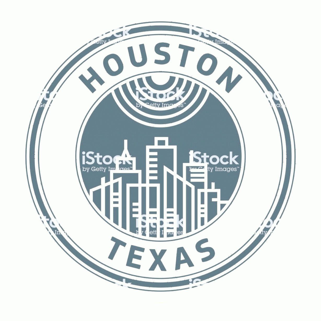 Vector Houston TX: Stamp With Text Houston Texas Gm