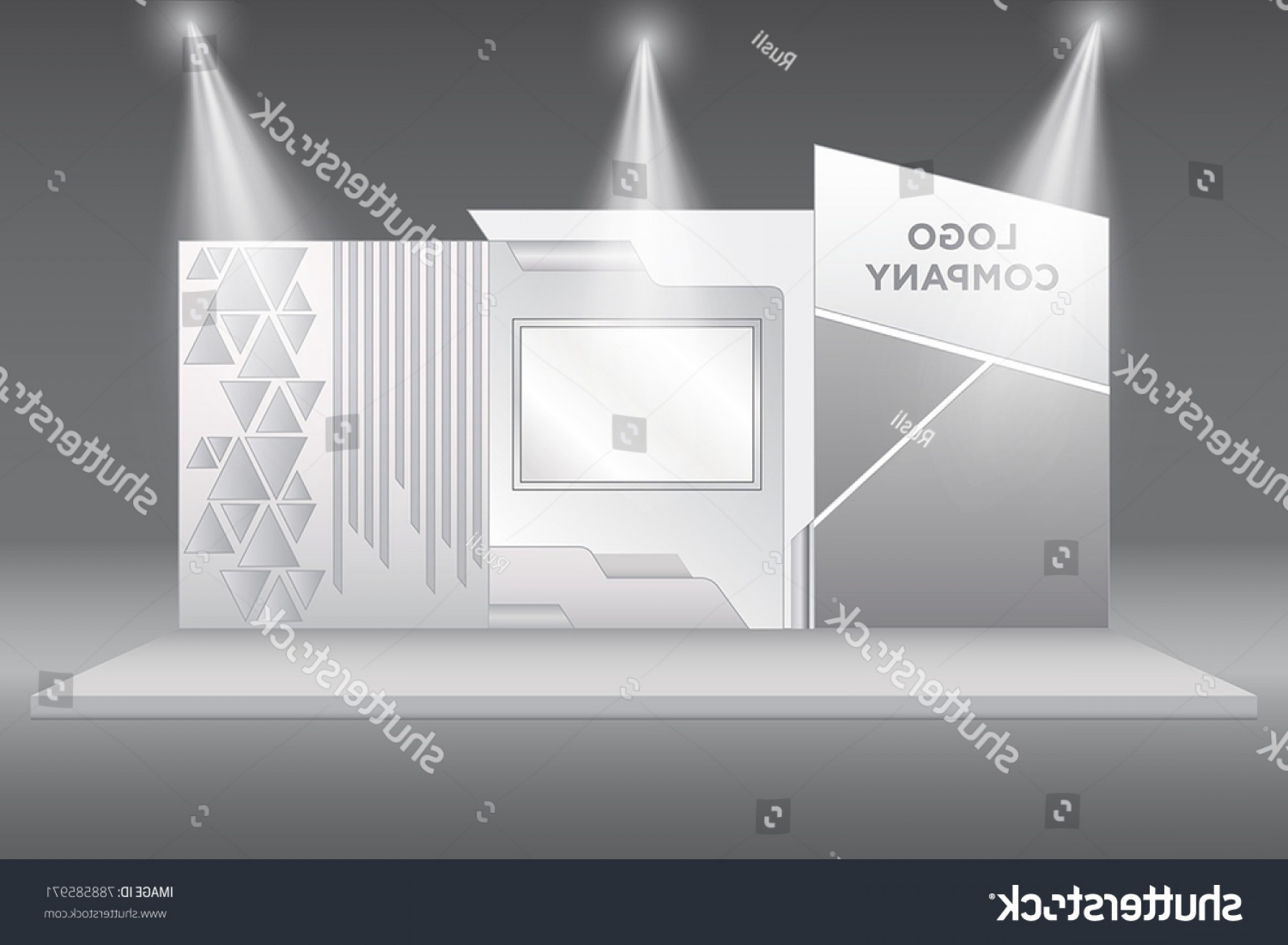 Vector Spotlight 3 Million: Stand Booth Exhibition Backdrop Screen Spotlight