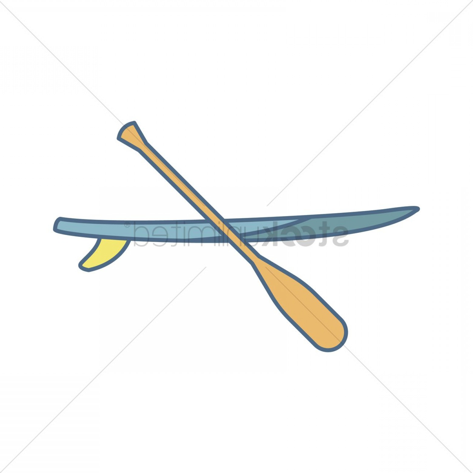 Paddleboard Vector Icons: Stand Up Paddle Board And Paddle Stick