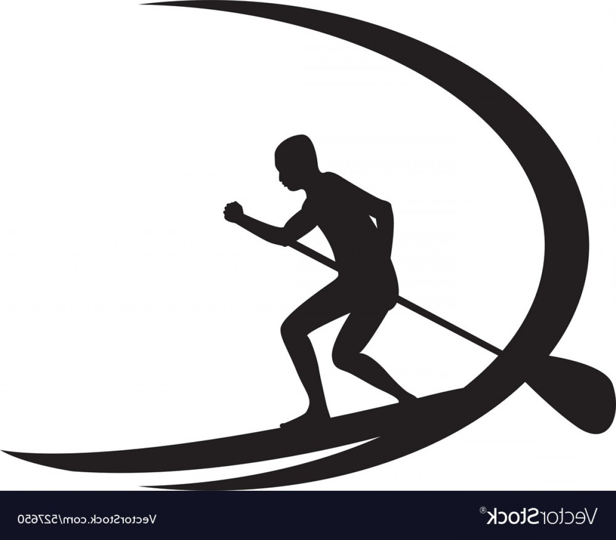 Stand Up Paddle Boarder Vector: Stand Up Paddle Boarding Vector