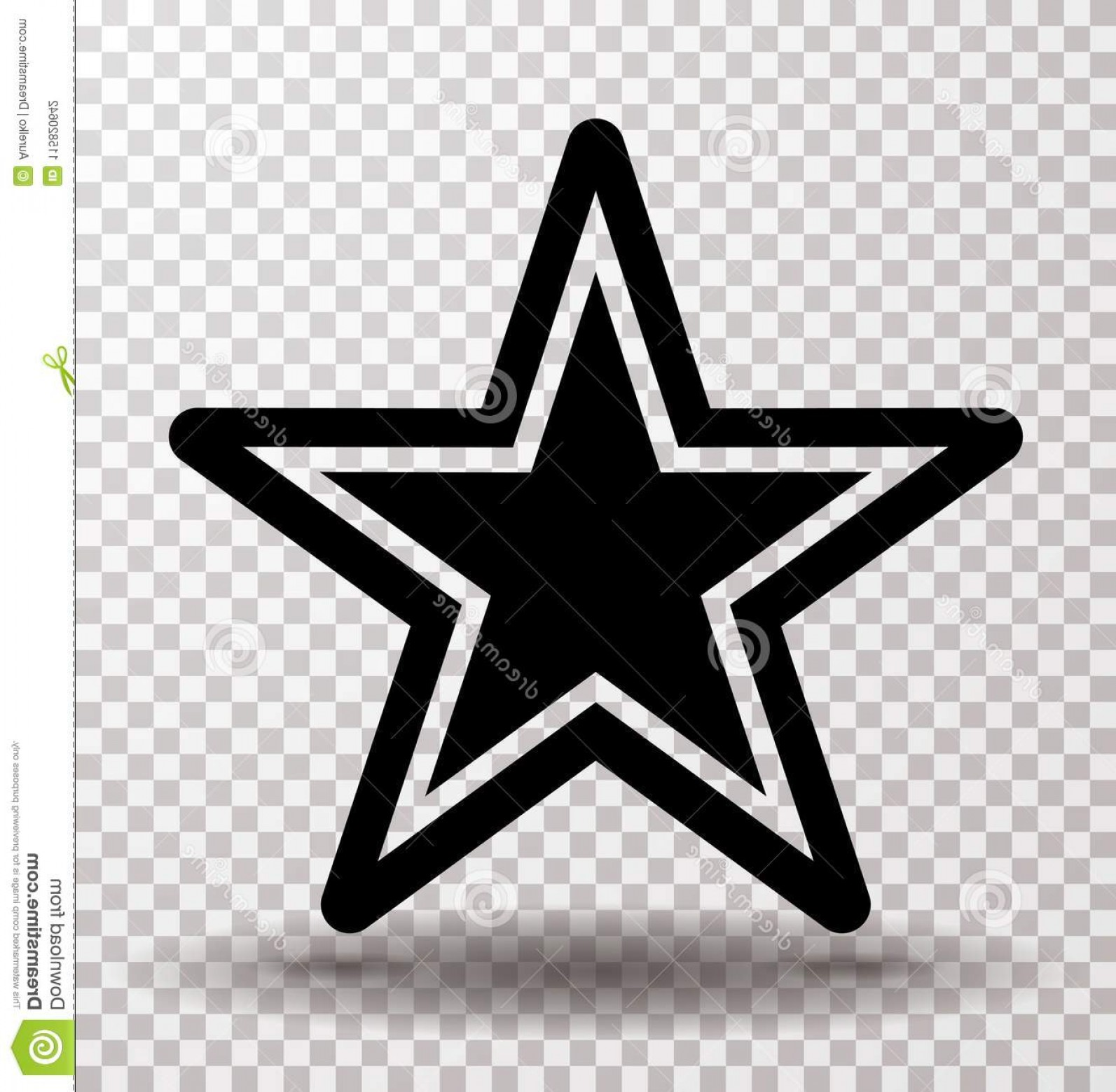 Free Vector Star: Star Stroke Icon Vector Eps Jpg Flat Web Art Pic Ai Illustration Stock Image