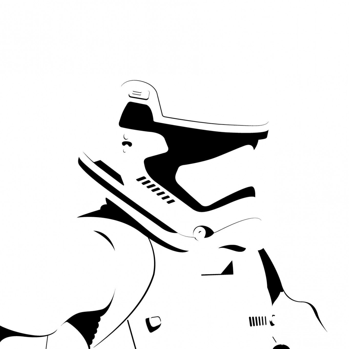 Boba Fett Vector Black And White: Star Wars Black And White Vector