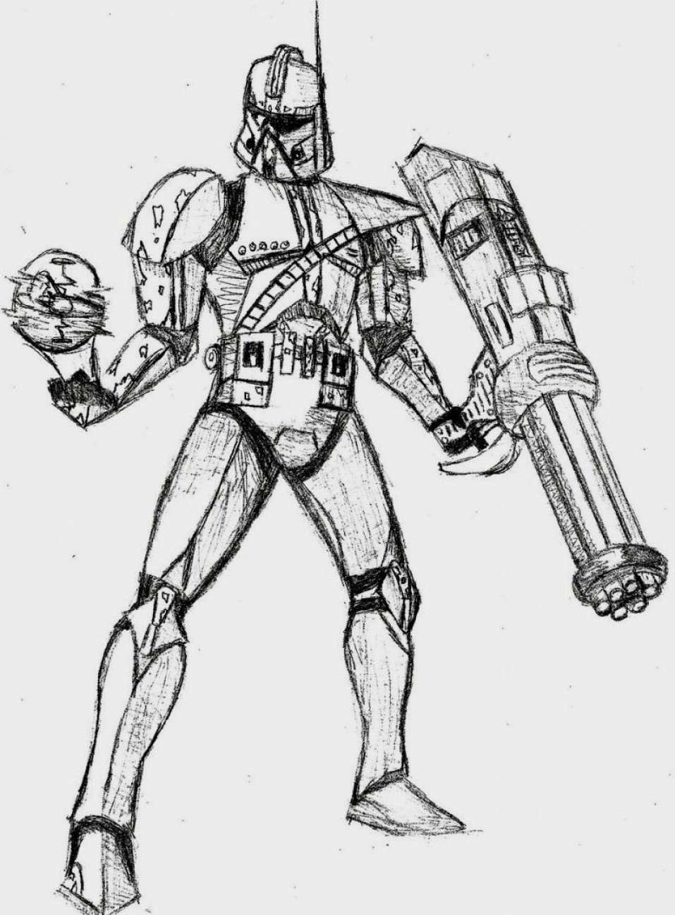 Clone Trooper Vector Art: Star Wars Clone Trooper Coloring Pages