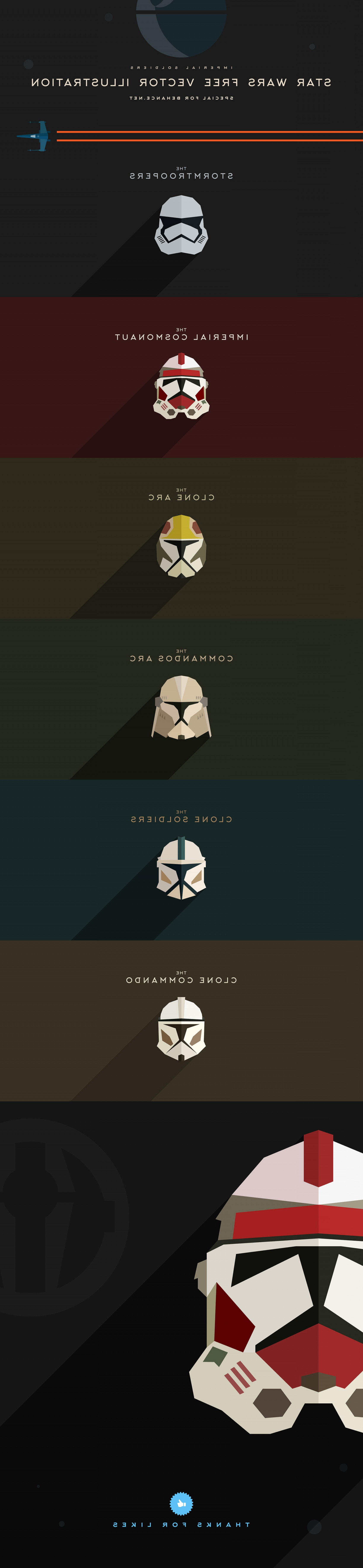 Clone Trooper Vector Art: Star Wars Free Vector Illustration Imperial Soldiers