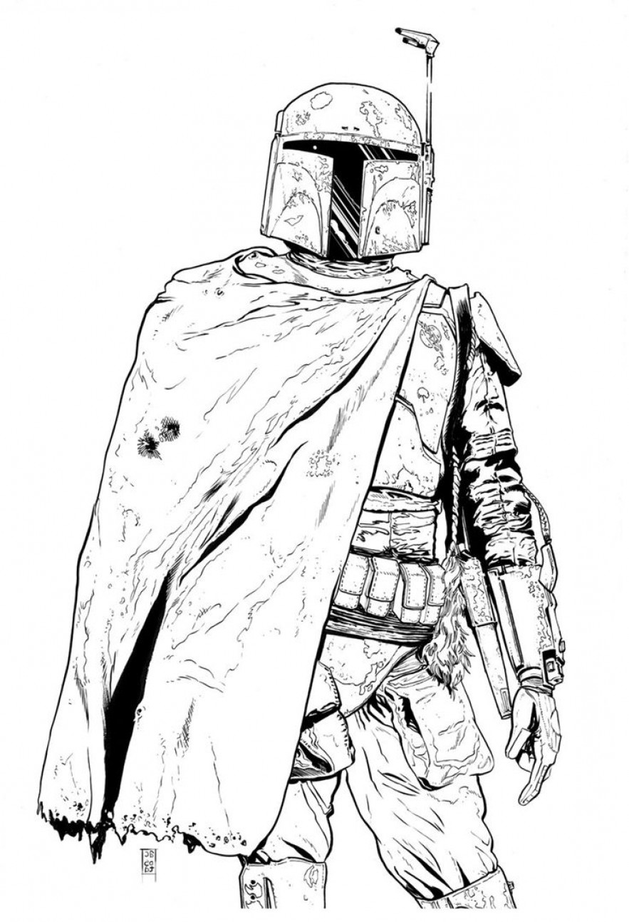 Boba Fett Vector Black And White: Star Wars Lego Coloring Page Bell Rehwoldt