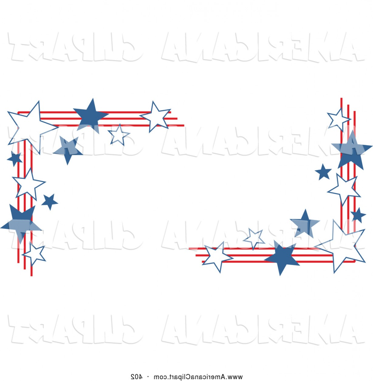 Americana Vector Art: Stars And Stripes Clipart Americana Vector Clip Art Of A Group Of American Stars And Stripes Corner Designs By Prawny