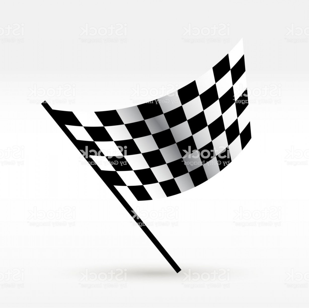 Vector Checkered Flag Heart: Starting And Finishing Flag Auto Moto Racing Checkered Flag Vector Realistic Image Gm