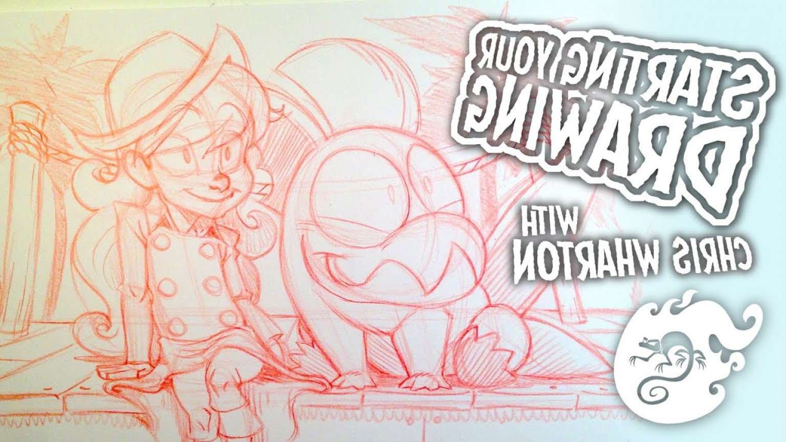 Hello Kitty Grayscale Vector-Based: Starting Your Drawing How To Draw With Chris Wharton