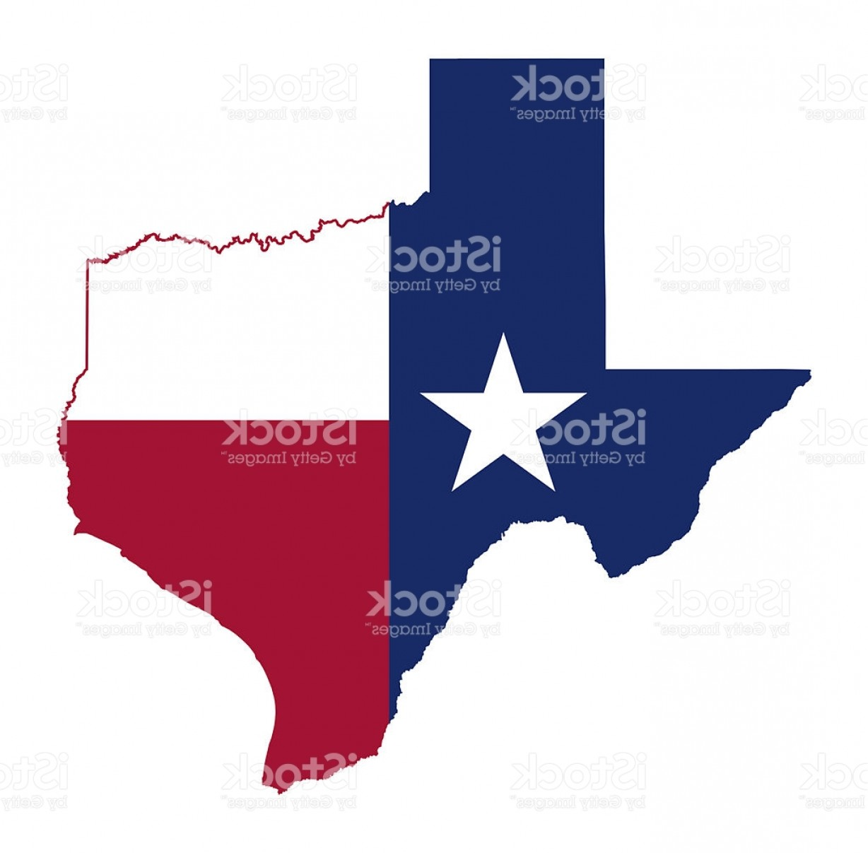 Texas Flag Vector Art: State Of Texas Flag Map Gm
