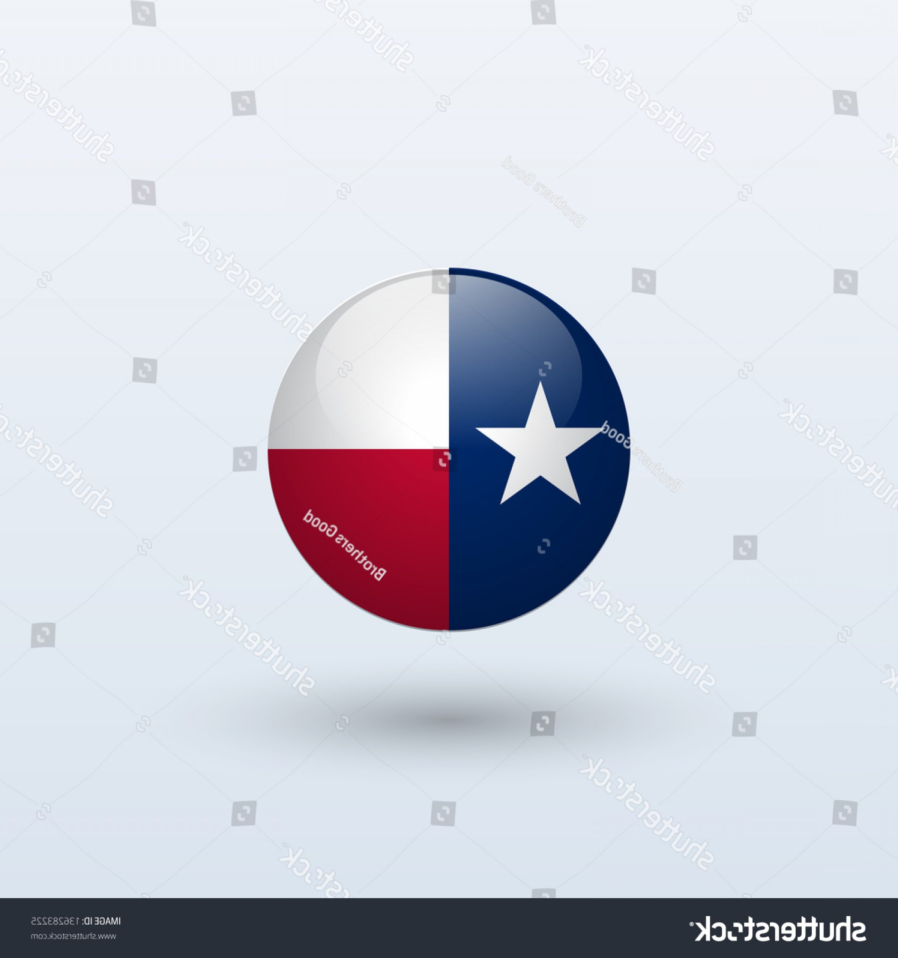 Texas Flag Vector Art: State Texas Flag Circle Form On