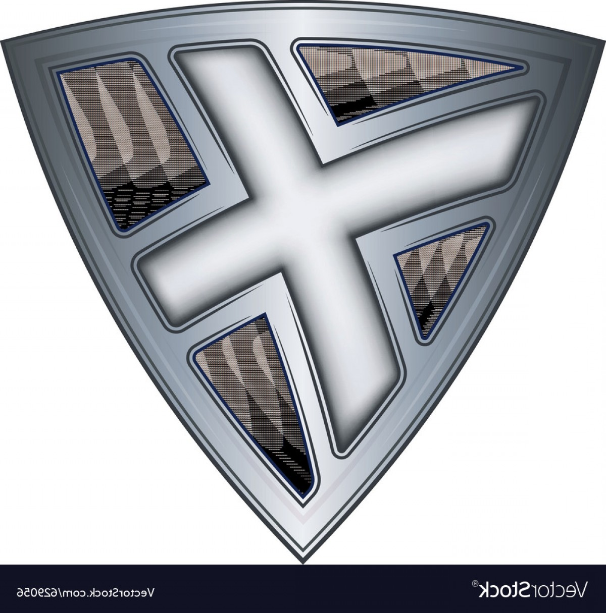 Scotland Heraldic Vector Graphic: Steel Shield With Flag Scotland Vector