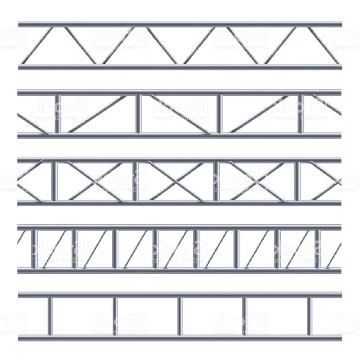 Vector Scissors Truss: Steel Truss Girder Seamless Pattern On White Gm