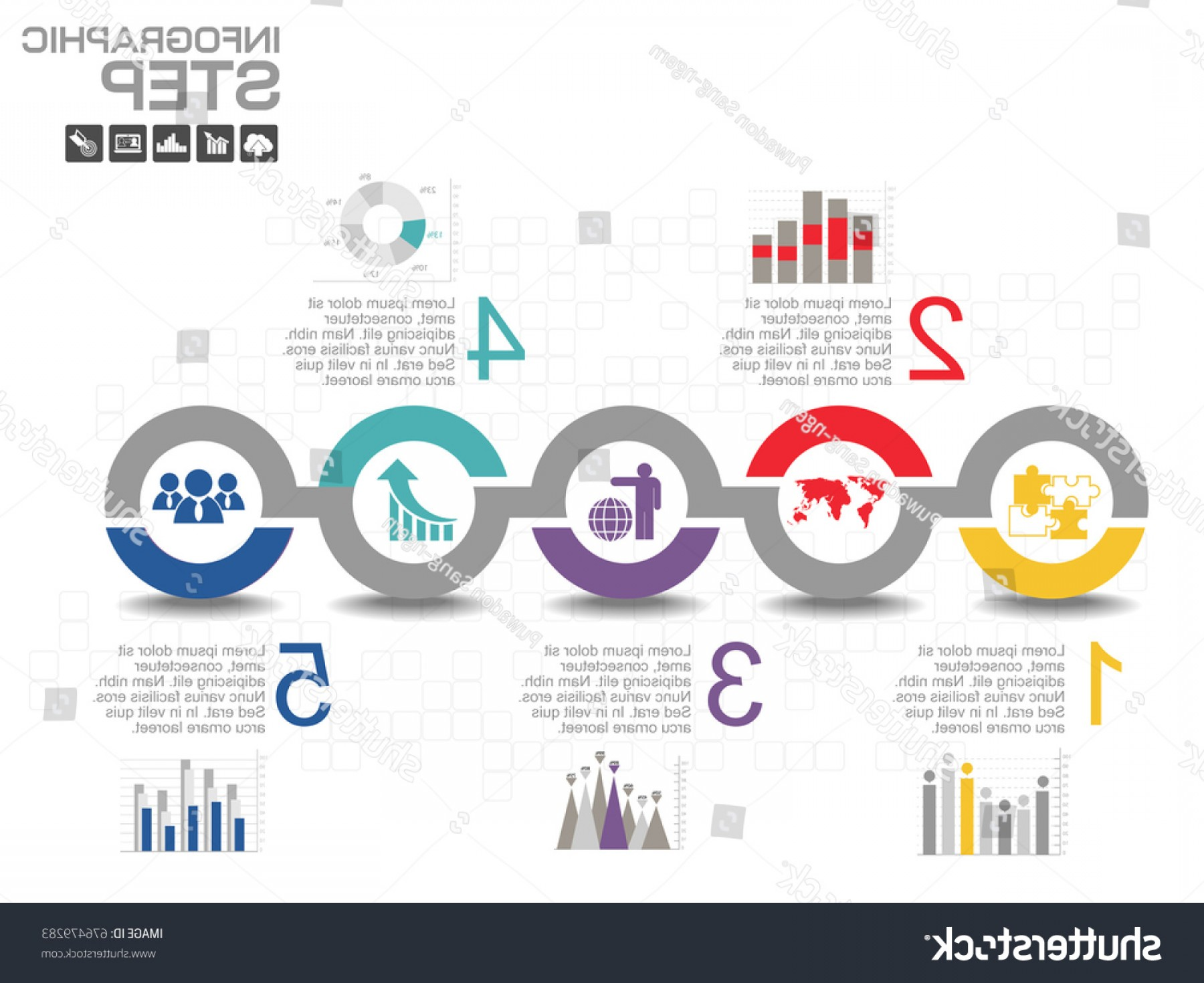 The Storm Vector Layout System: Steps Timeline Infographics Design Template