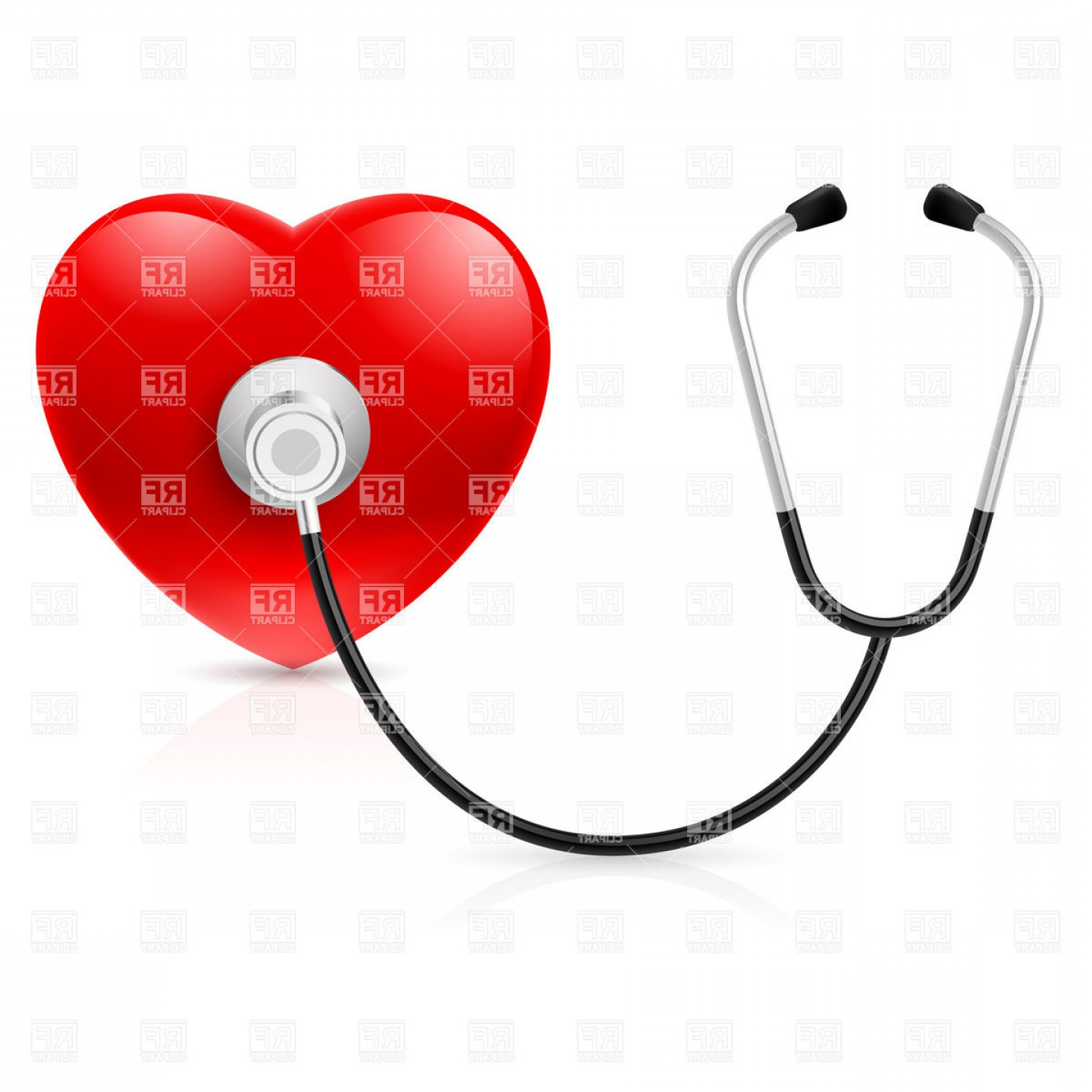 Stethoscope With Heart Vector Art: Stethoscope And Heart Vector Clipart