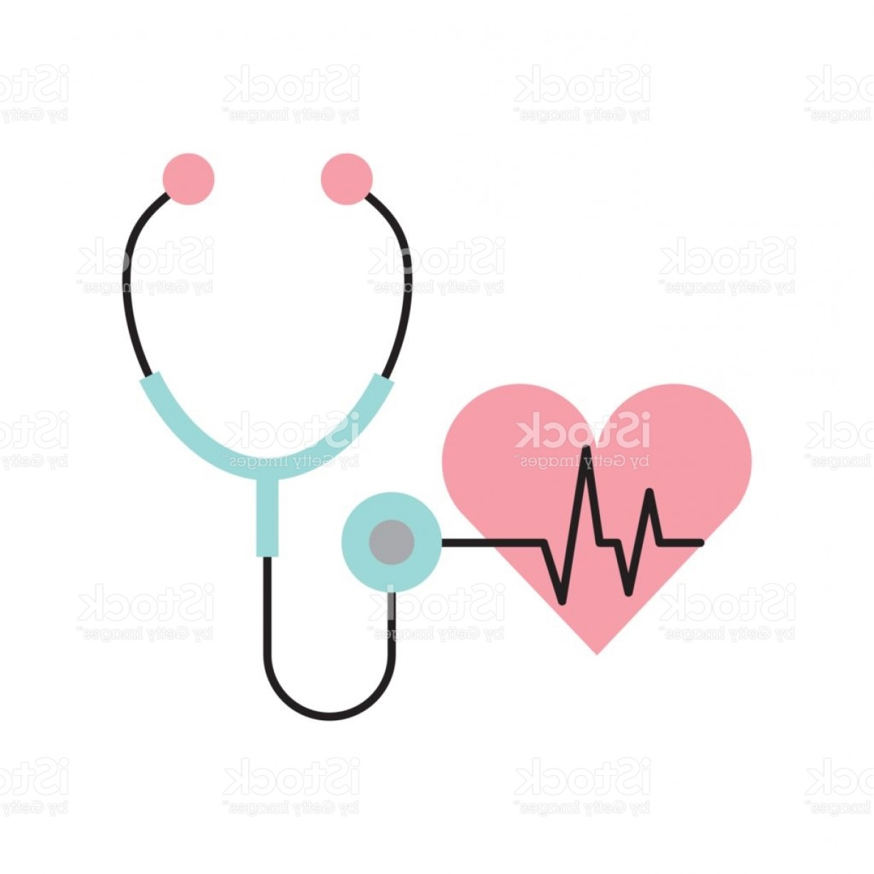 Stethoscope With Heart Vector Art: Stethoscope Medical With Heart Gm