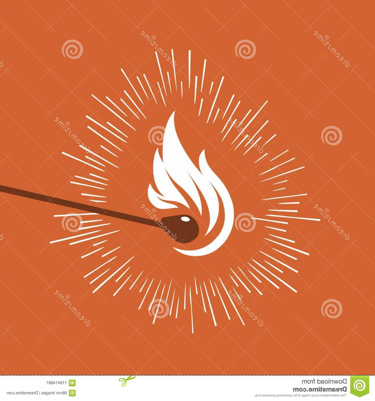 Vector Flame Stick Pattern: Stick Matchstick Flame Accents Graphics White Flame Mactch Stick Red Background Graphic Luminous Lines Image