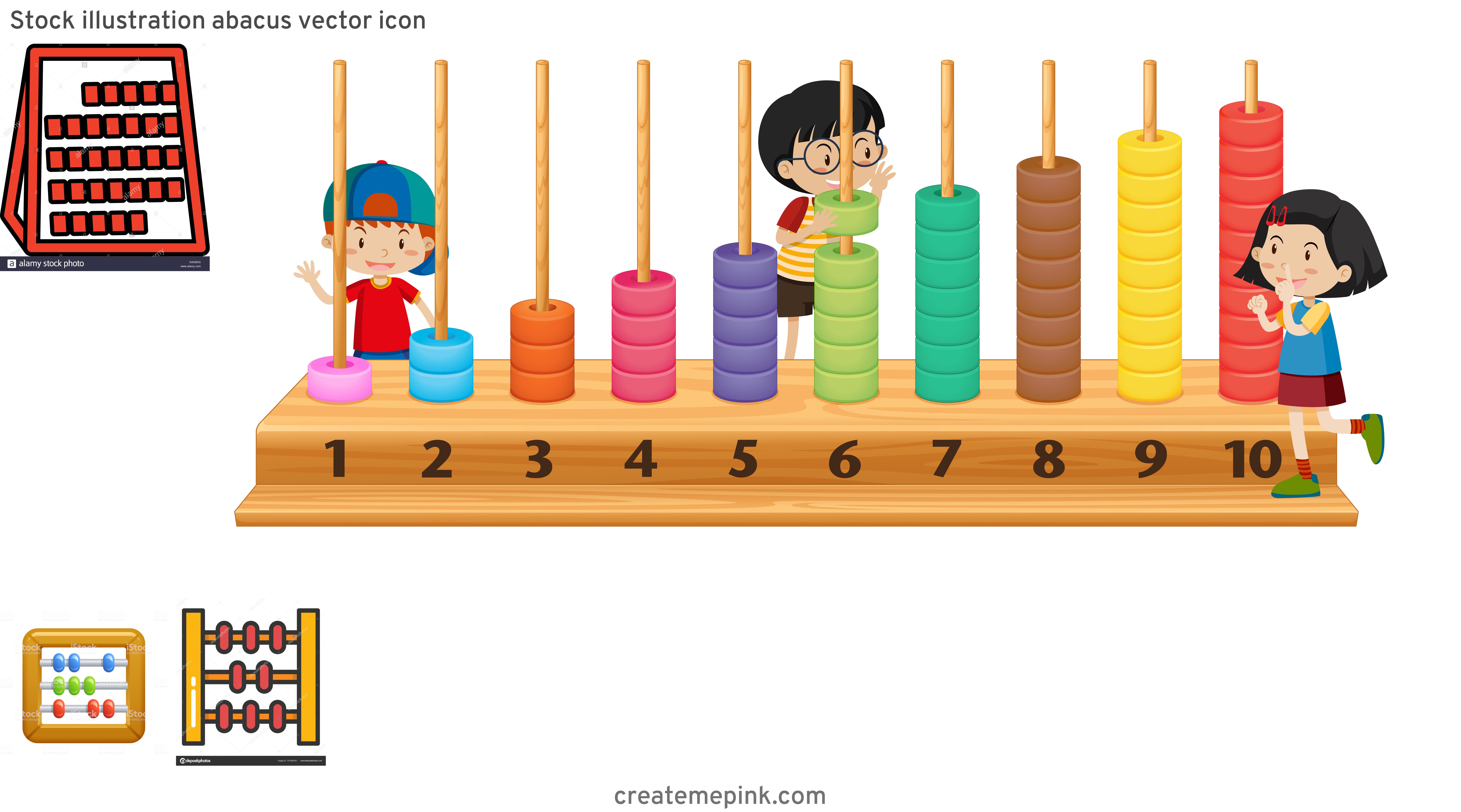 Abacus Vector Art: Stock Illustration Abacus Vector Icon