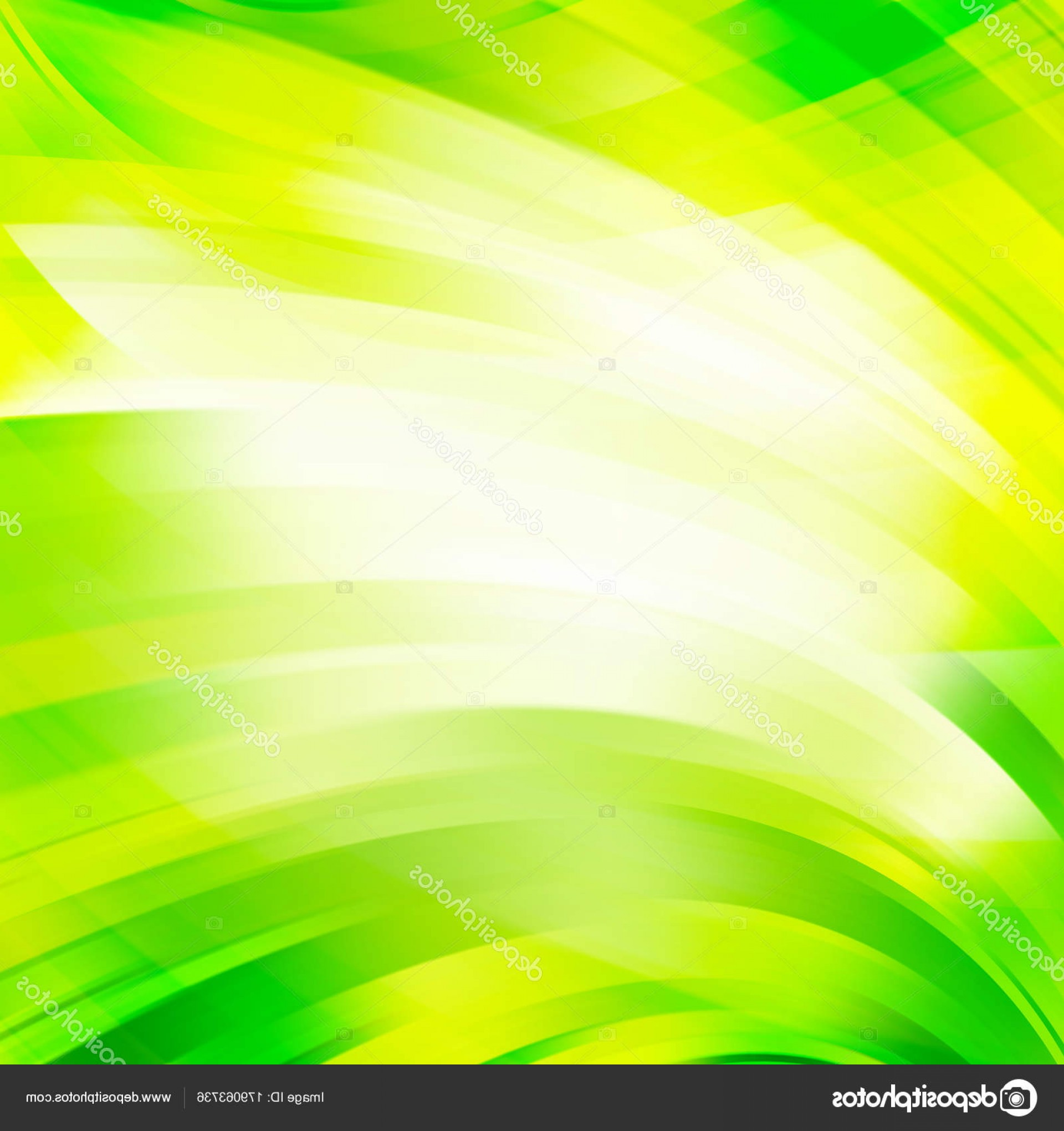 Green And White Vector: Stock Illustration Abstract Background With Swirl Waves