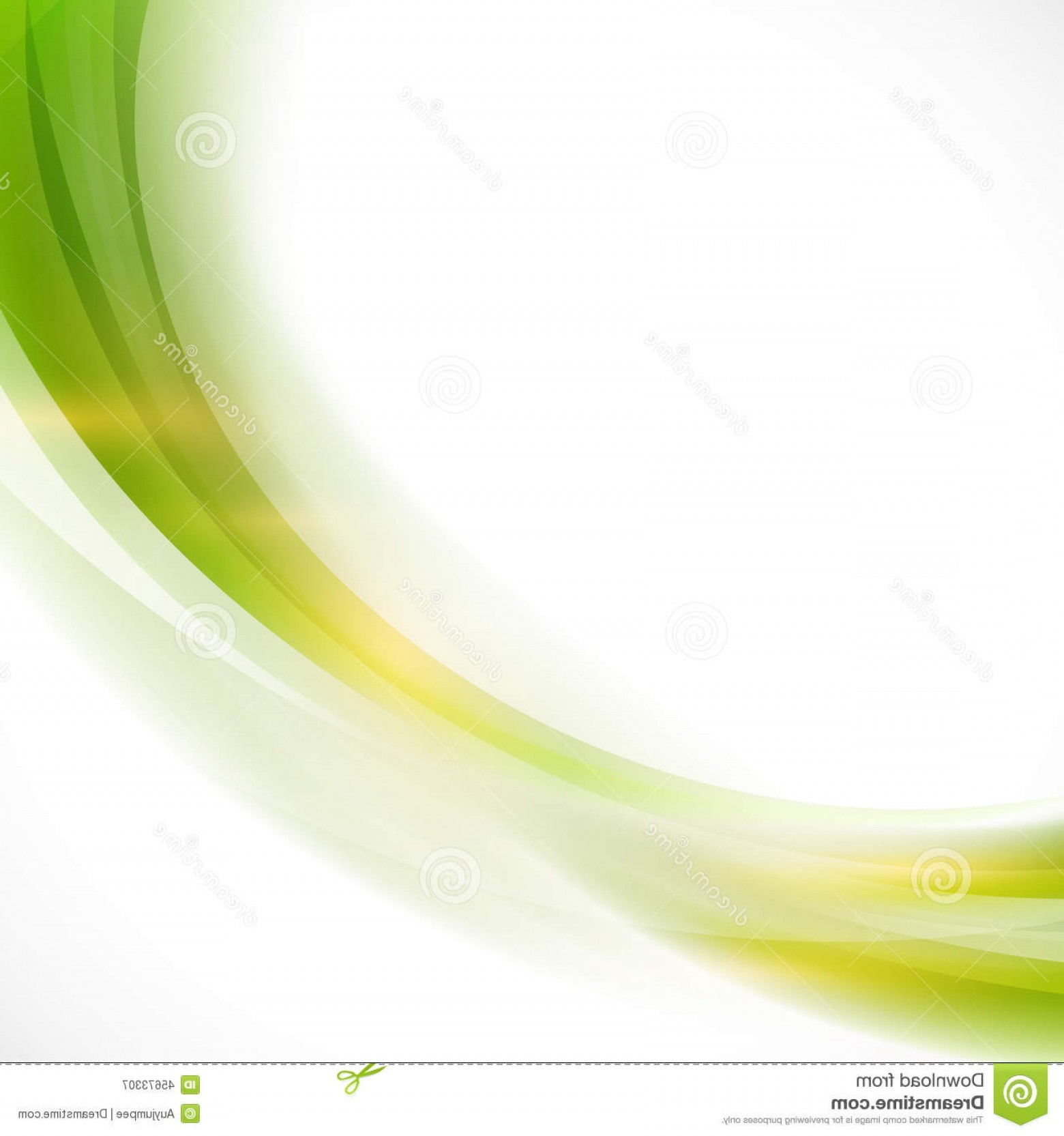 Vector Smooth Green: Stock Illustration Abstract Curve Smooth Green Flow Background Vector Illustration Image