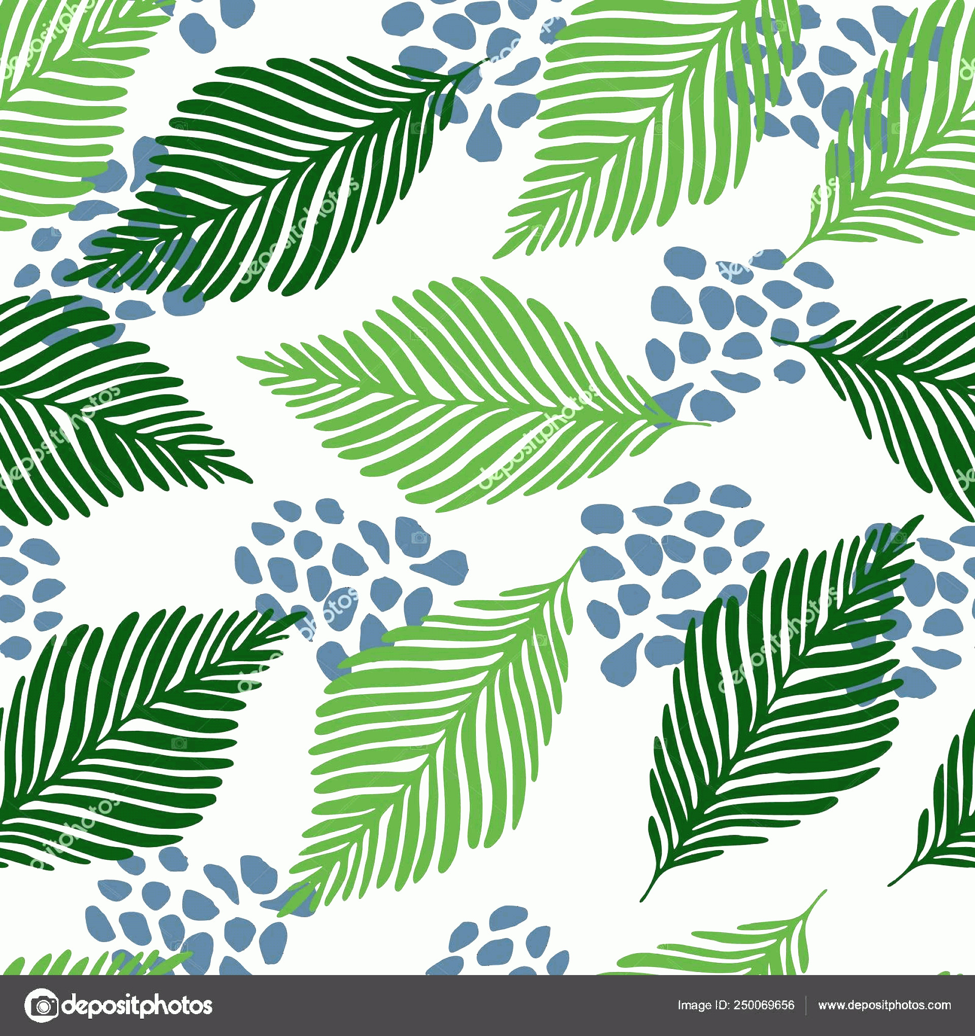 Contemporary Wallpaper Art Vector: Stock Illustration Abstract Exotic Jungle Plants Texture