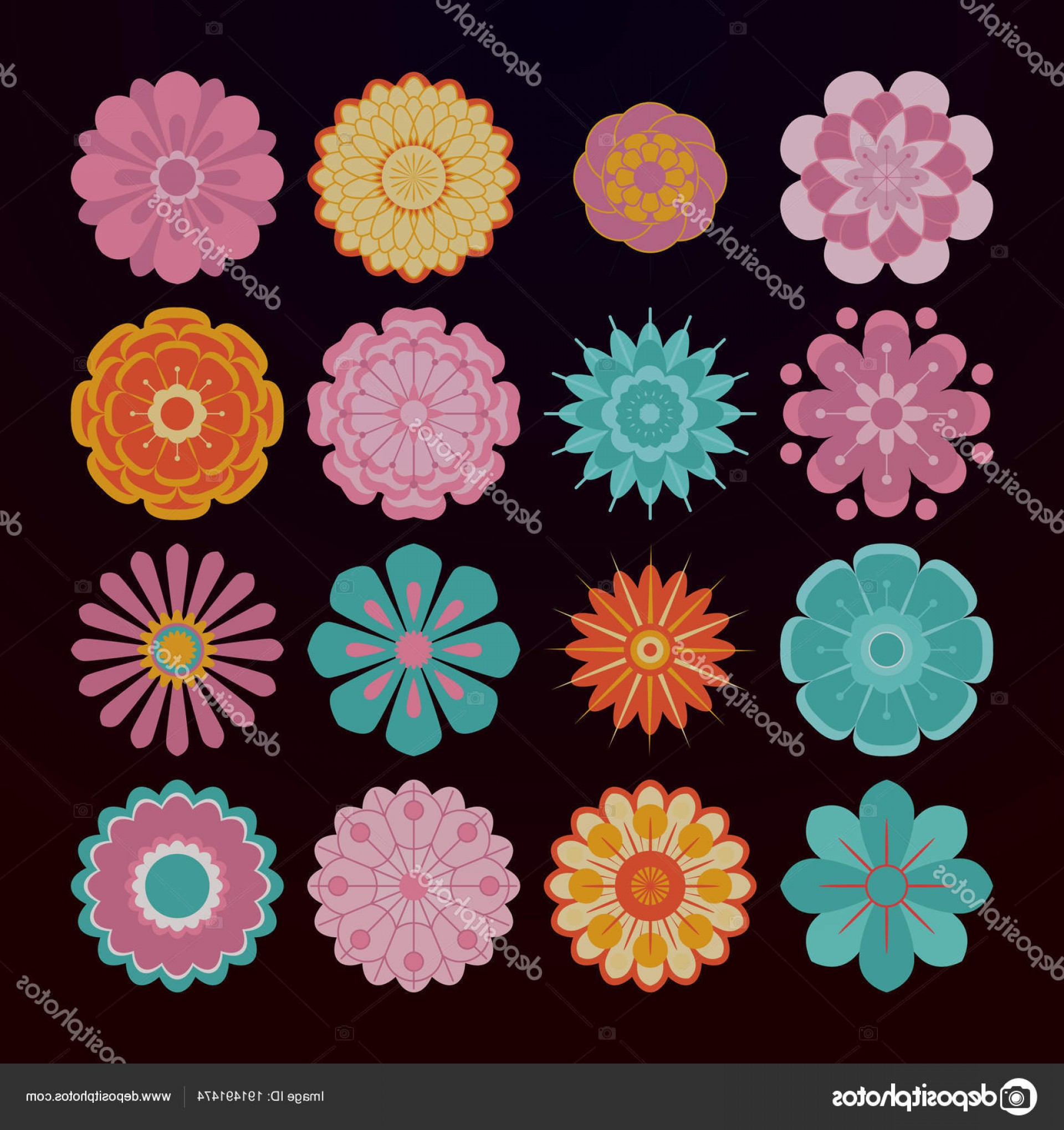 Cute Design Elements Vector Set: Stock Illustration Abstract Floral Design Elements Vector