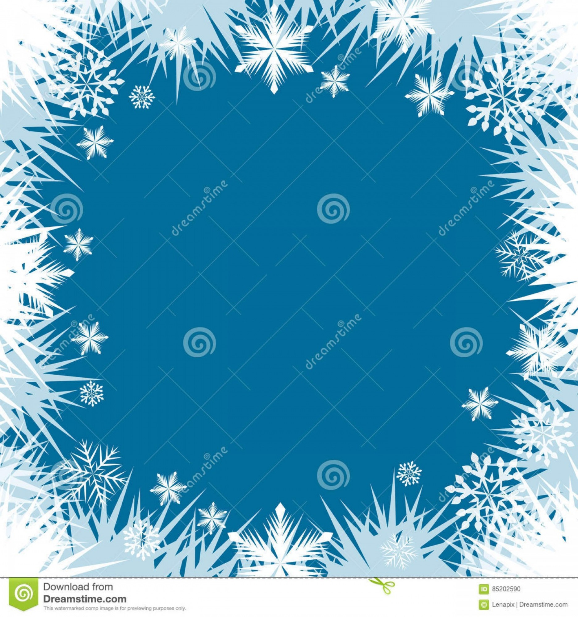 Frost Border Vector: Stock Illustration Abstract Frost Snowflake Window Border Frame Vector Background Image