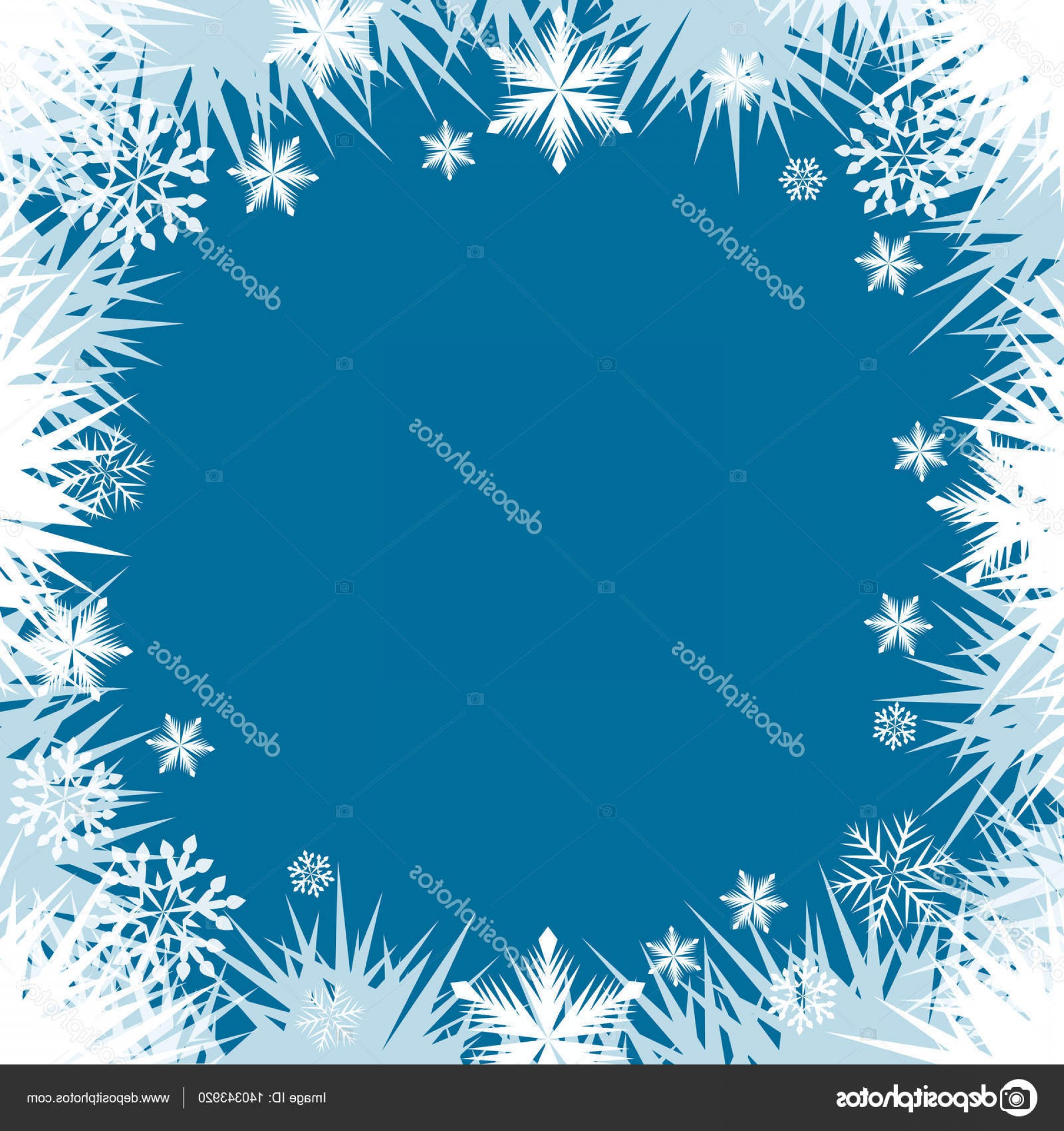 Frost Border Vector: Stock Illustration Abstract Frost Snowflake Window Border
