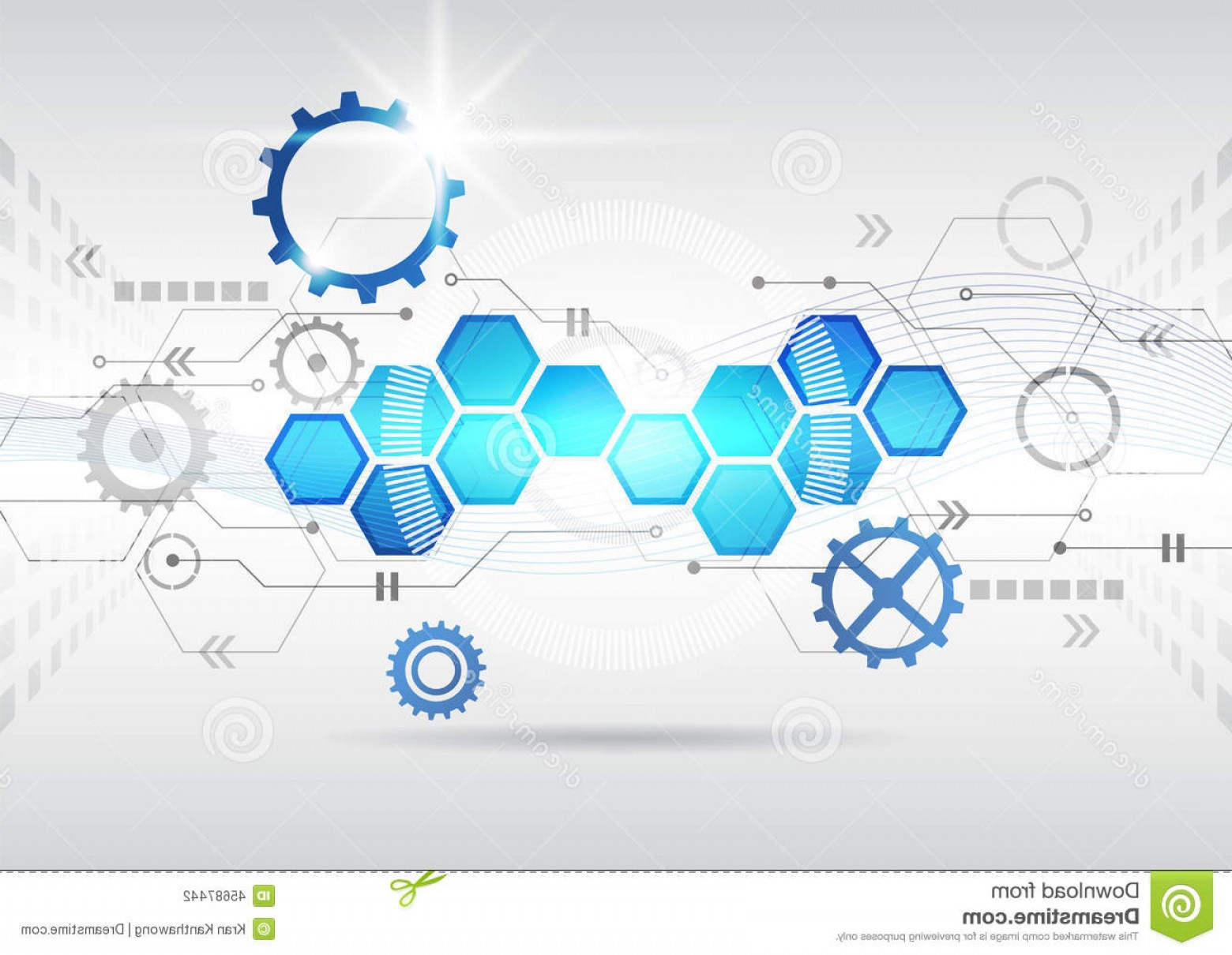 Futuristic Render Vector Graphics: Stock Illustration Abstract Futuristic Circuit High Computer Technology Business Background Innovation Image