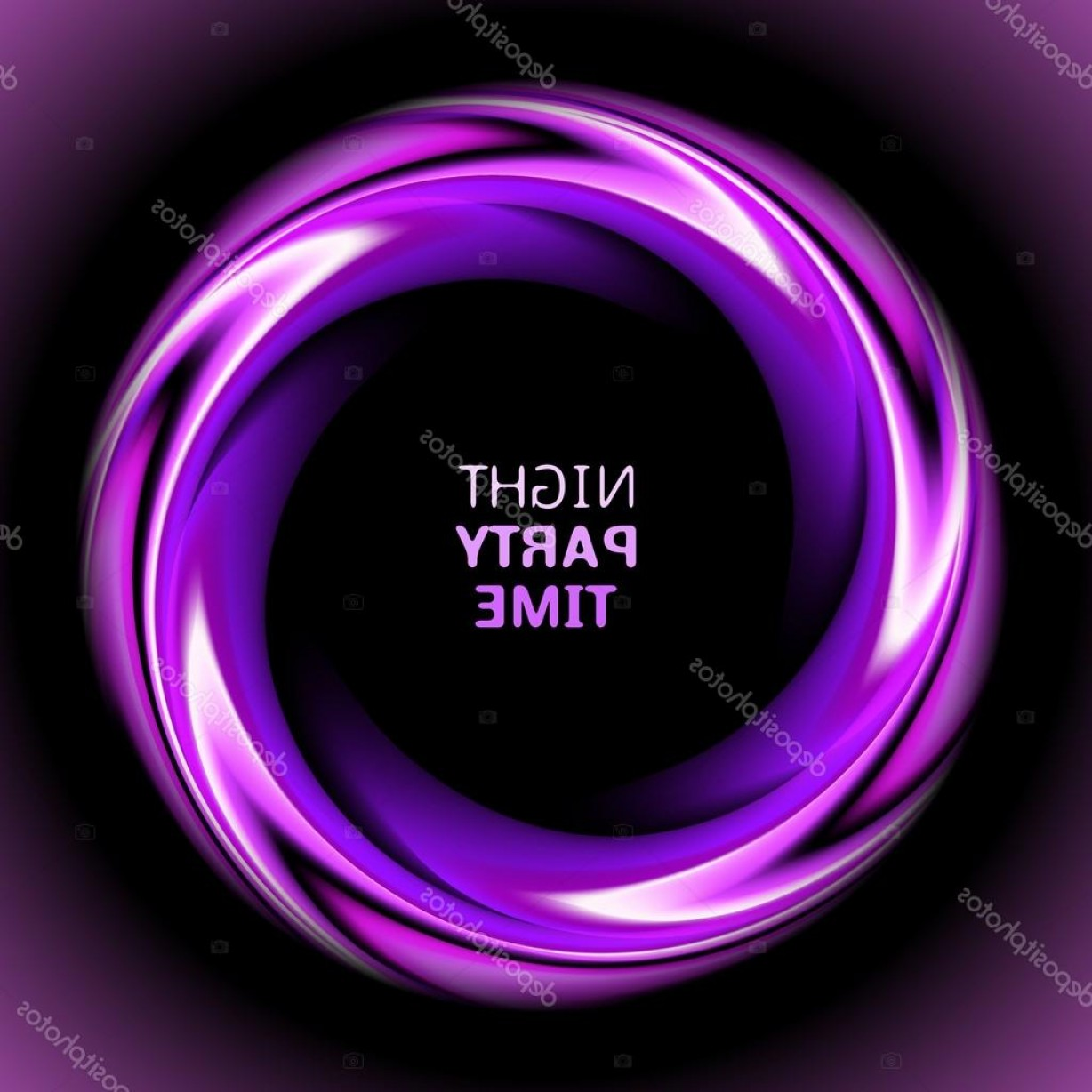 Violet Swirl Design Vector: Stock Illustration Abstract Light Purple Swirl Circle