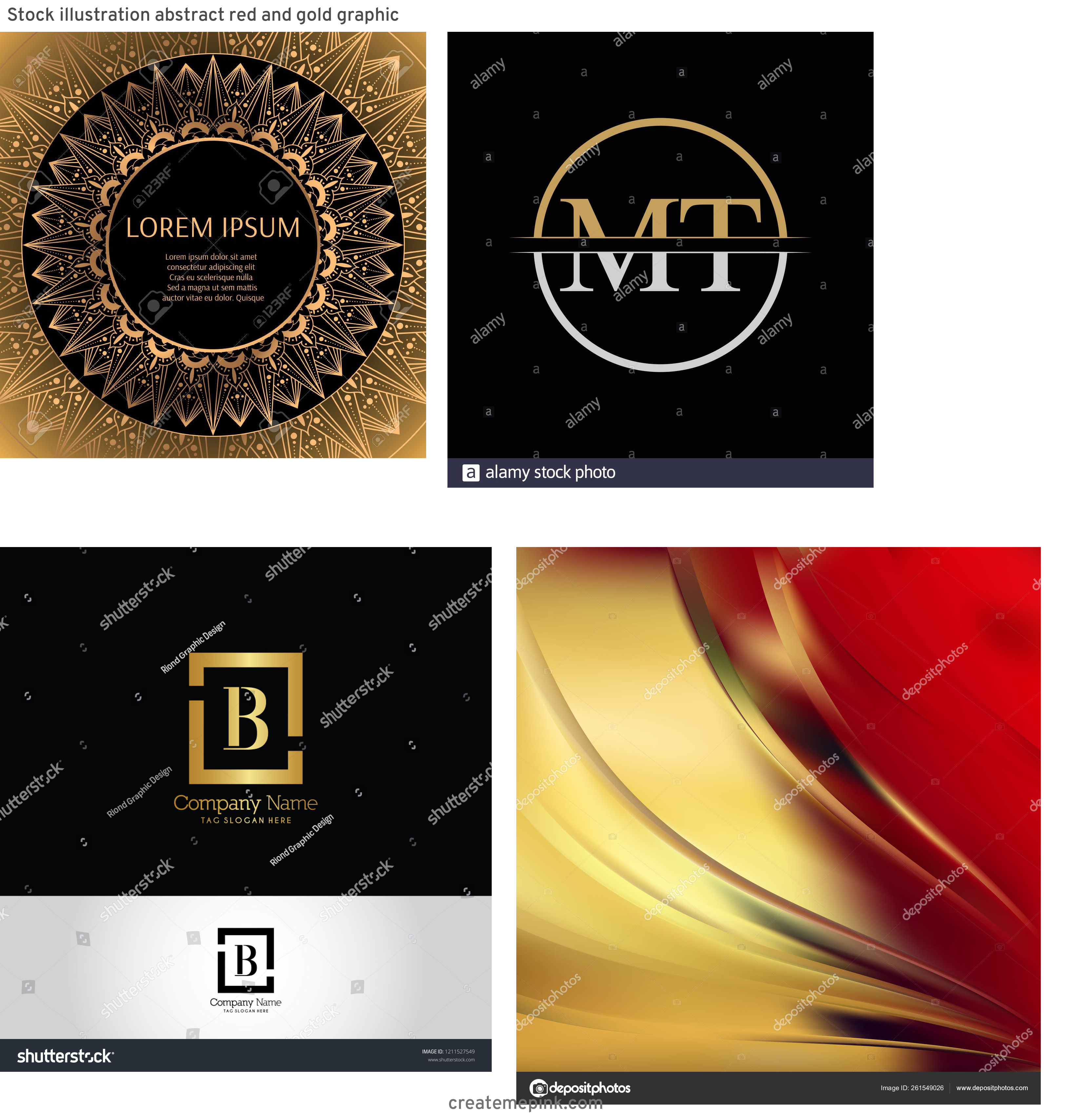 Gold Graphic Design Vectors: Stock Illustration Abstract Red And Gold Graphic