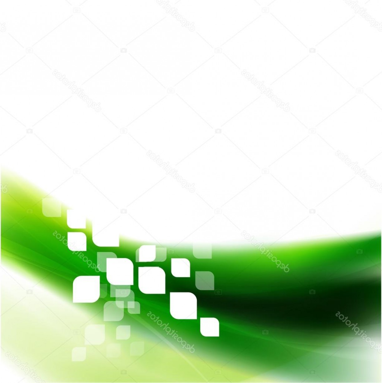 Vector Smooth Green: Stock Illustration Abstract Smooth Green Wave And