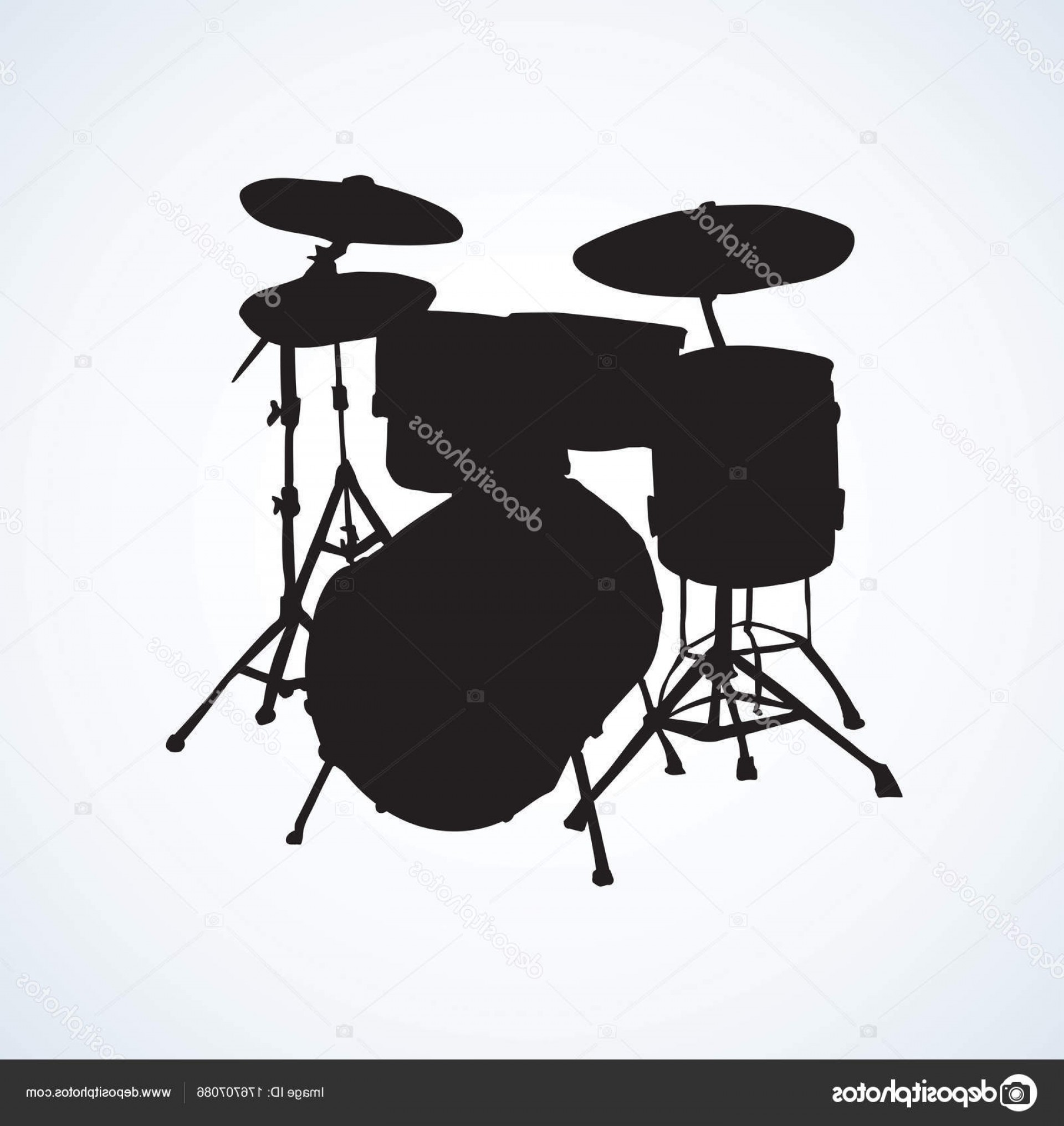 Kick Drum Vector: Stock Illustration African Drum Vector Drawing