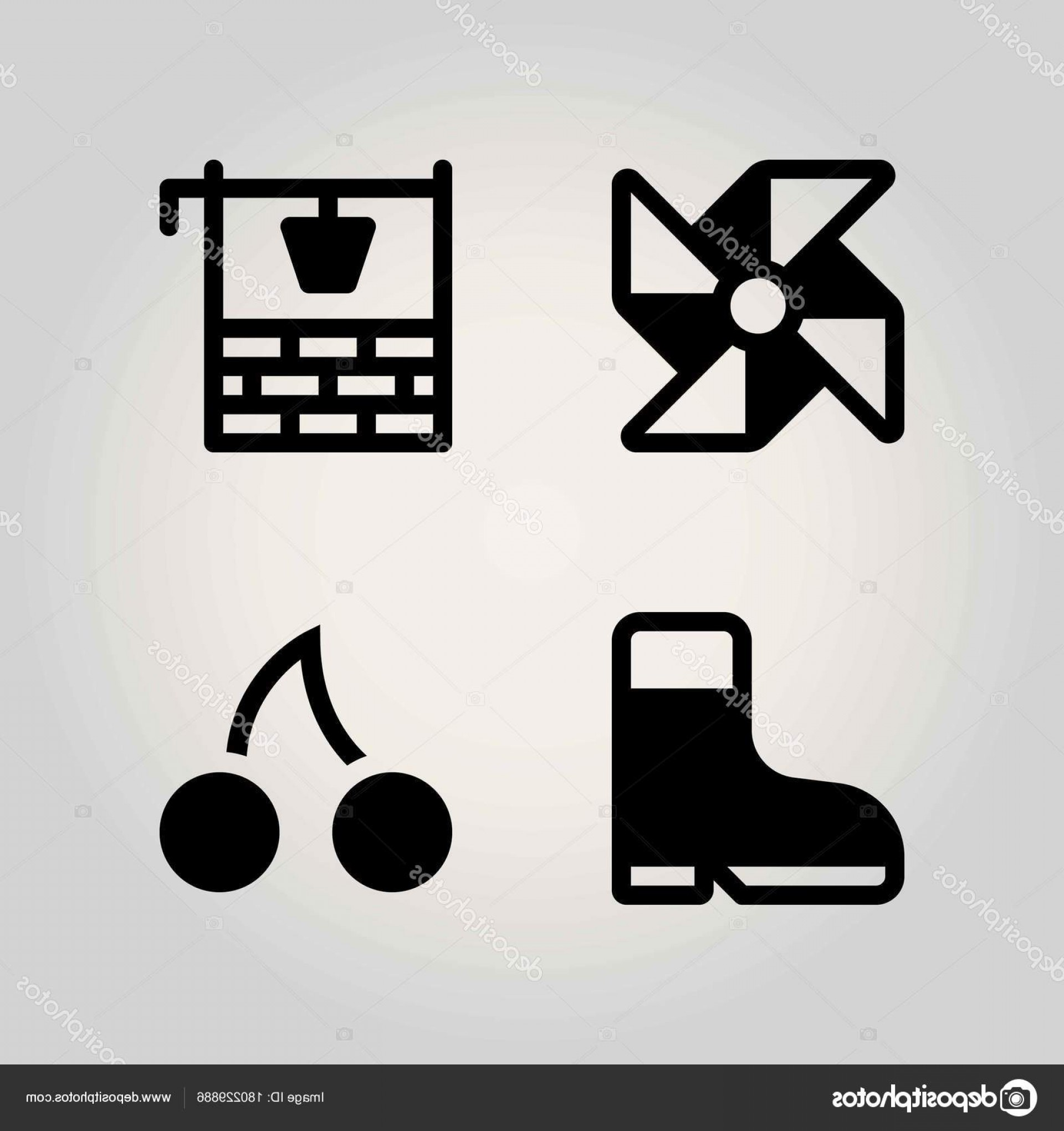 Agriculture Vector Icons: Stock Illustration Agriculture Vector Icon Set Well
