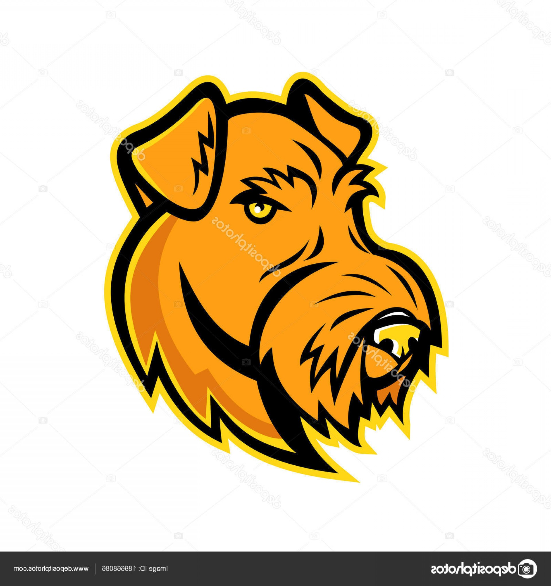 Dog Mascot Vector: Stock Illustration Airedale Terrier Dog Mascot