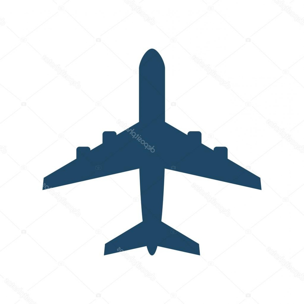 Vector Airplane Symbol: Stock Illustration Airplane Icon Modern Minimal Flat