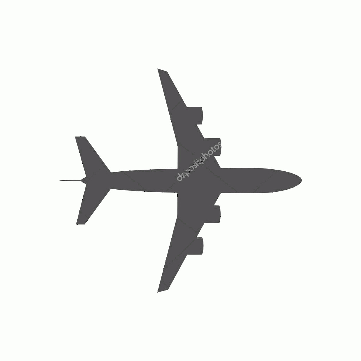 Aviation Vector Designs: Stock Illustration Airplane Silhouette Travel Icon Vector