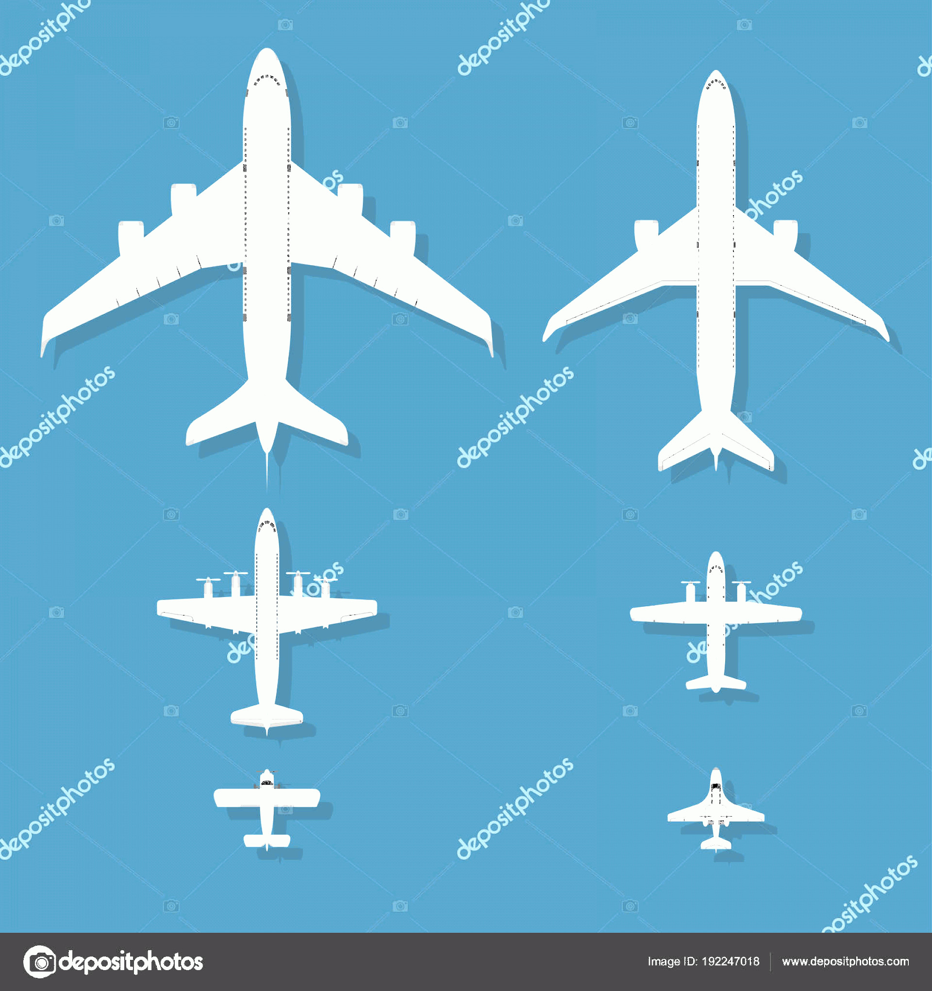 Aviation Vector Designs: Stock Illustration Airplane Vector Illustration Top View