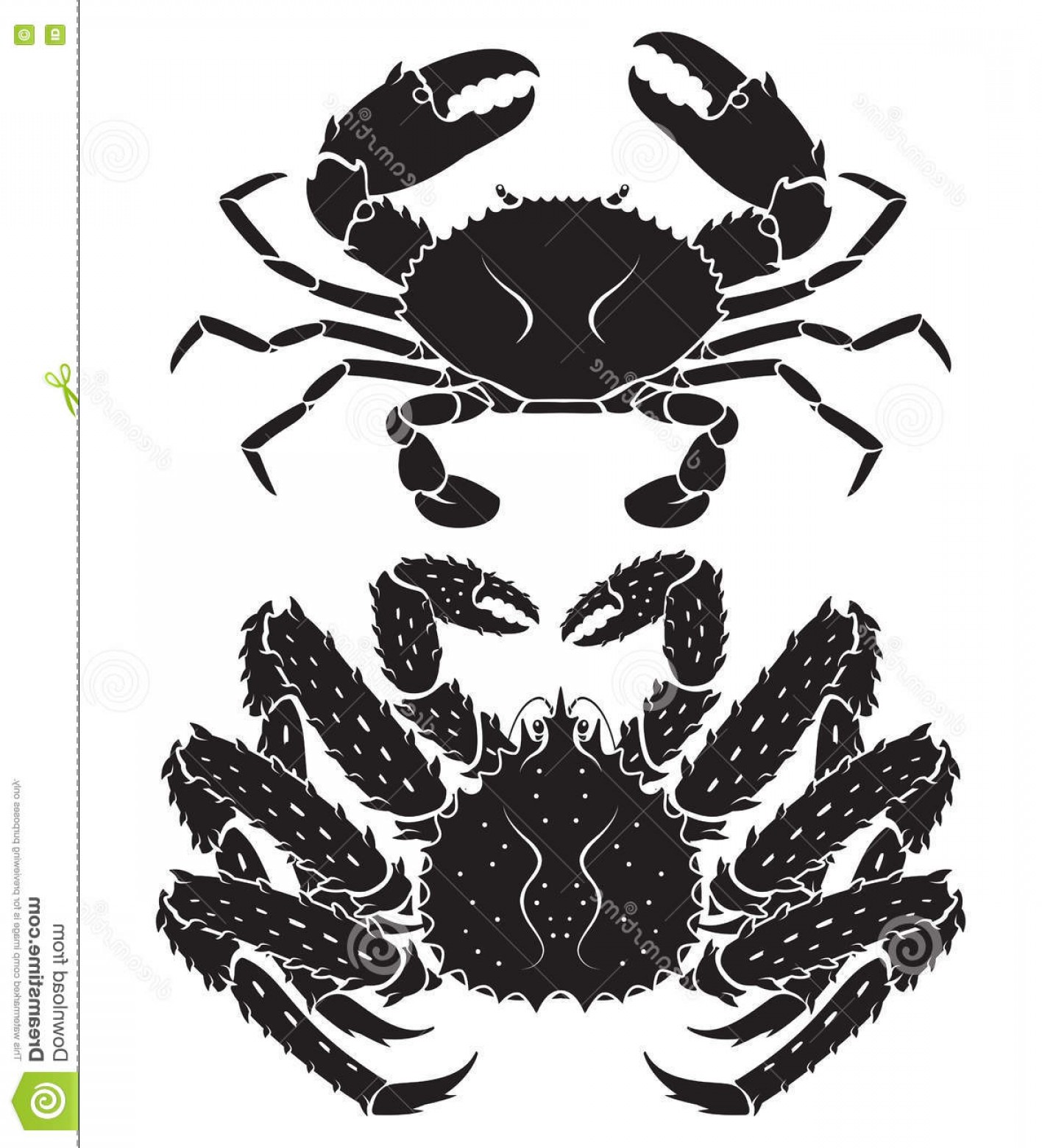 Crab Vector Black: Stock Illustration Alaskan King Crab Silhouette Vector Illustrations Image