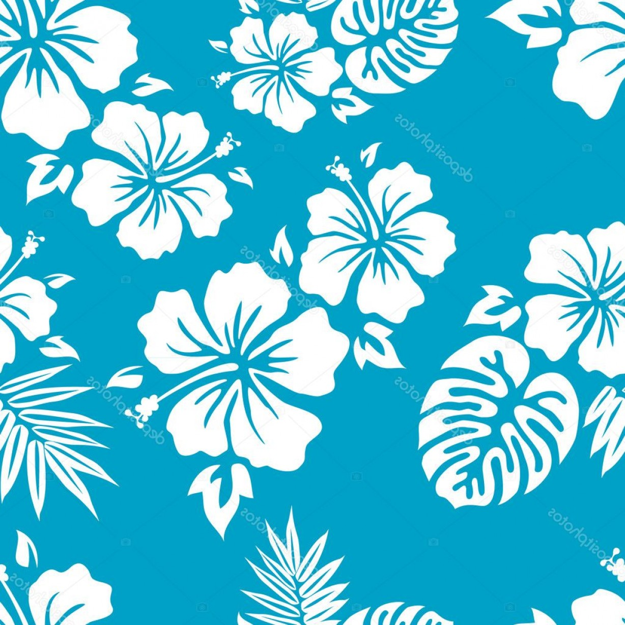 Hawaiian Pattern Vector: Stock Illustration Aloha Hawaiian Shirt Pattern