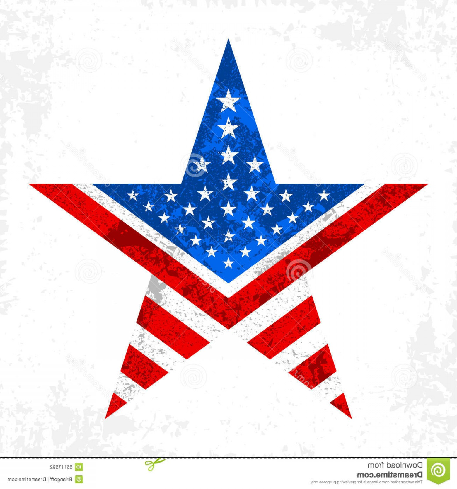 American Flag Stars Only Vector: Stock Illustration America Star Icon Red Blue American Flag Pattern Inside Image