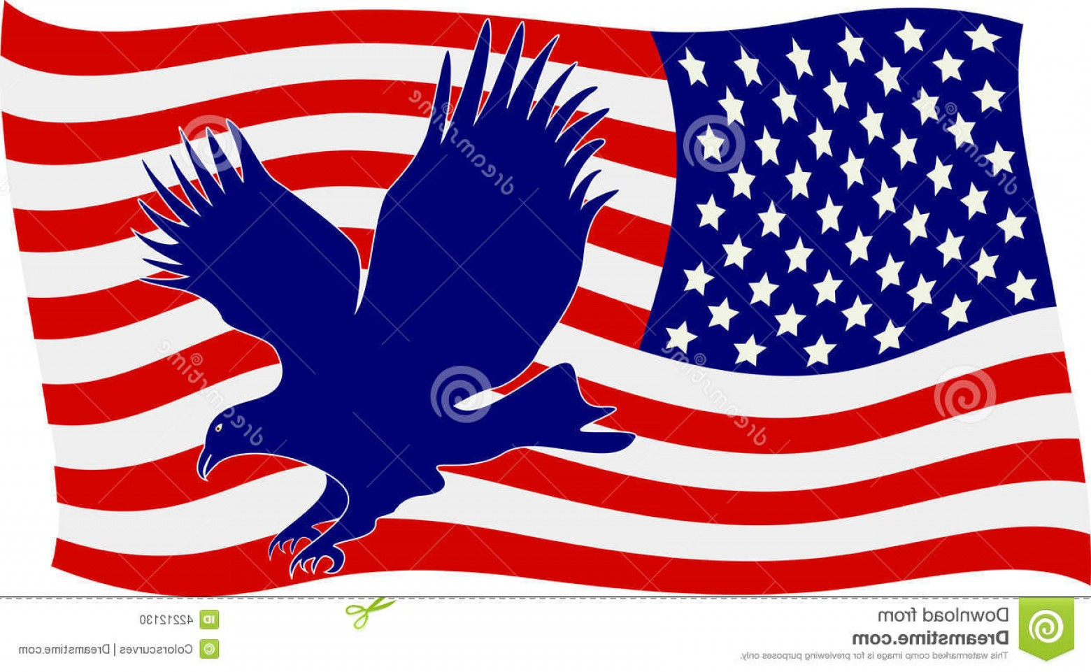 Patriotic Bald Eagle Vector: Stock Illustration American Flag Bald Eagle Vector Drawing Represents Design Image