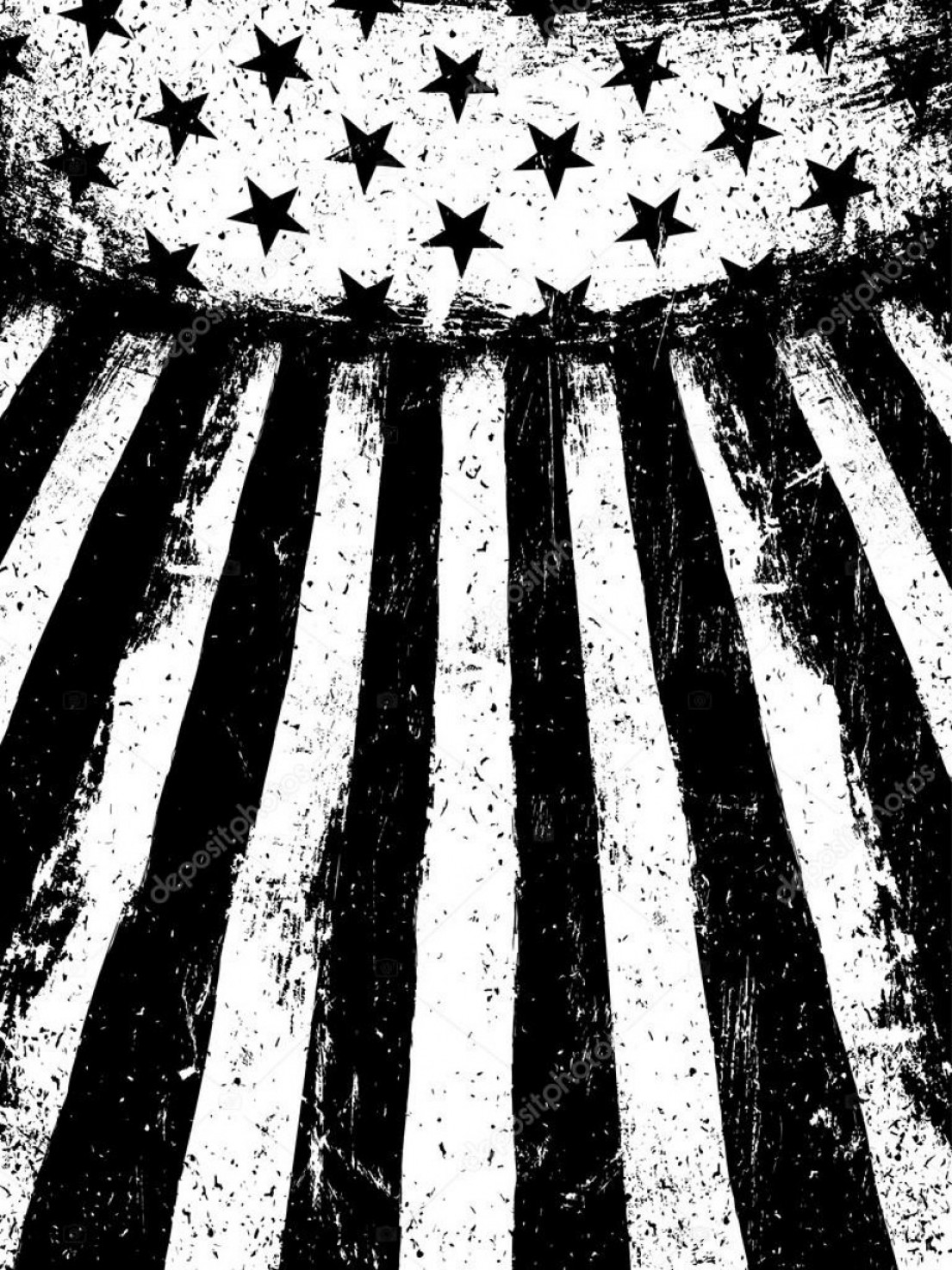 Rustic American Flag Vector: Stock Illustration American Flag Grunge Background