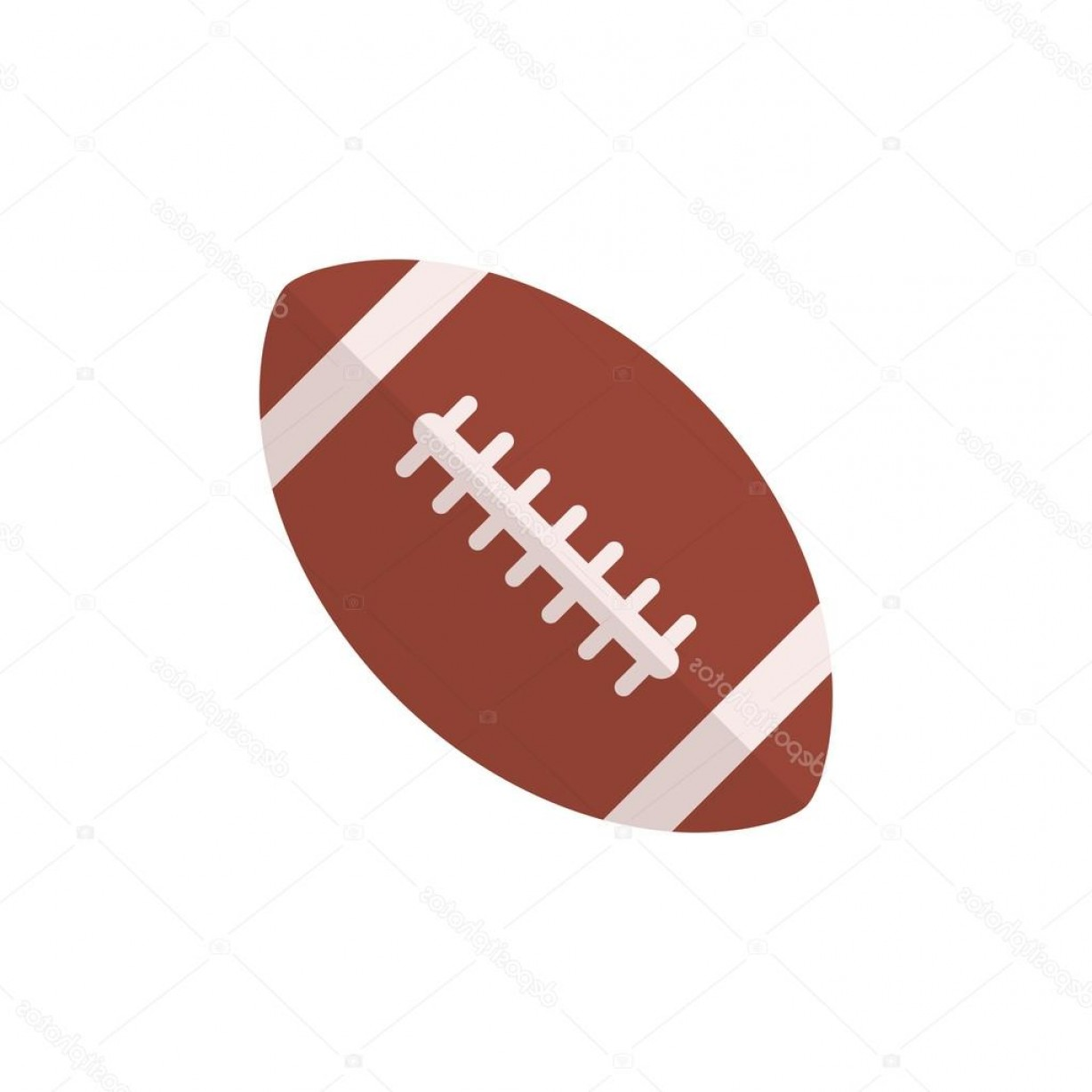 High Res Vector American Football: Stock Illustration American Football Ball Icon Modern