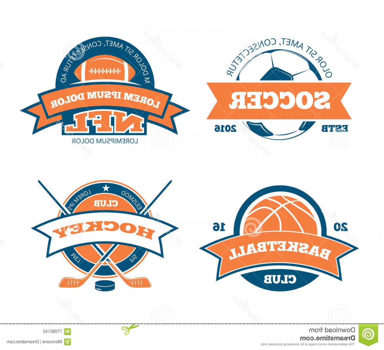 Hockey Teams Logo Vectors: Stock Illustration American Football Basketball Soccer Hockey Sports Team Vector Labels Emblems Logos Badges Sport Logo Sport Image