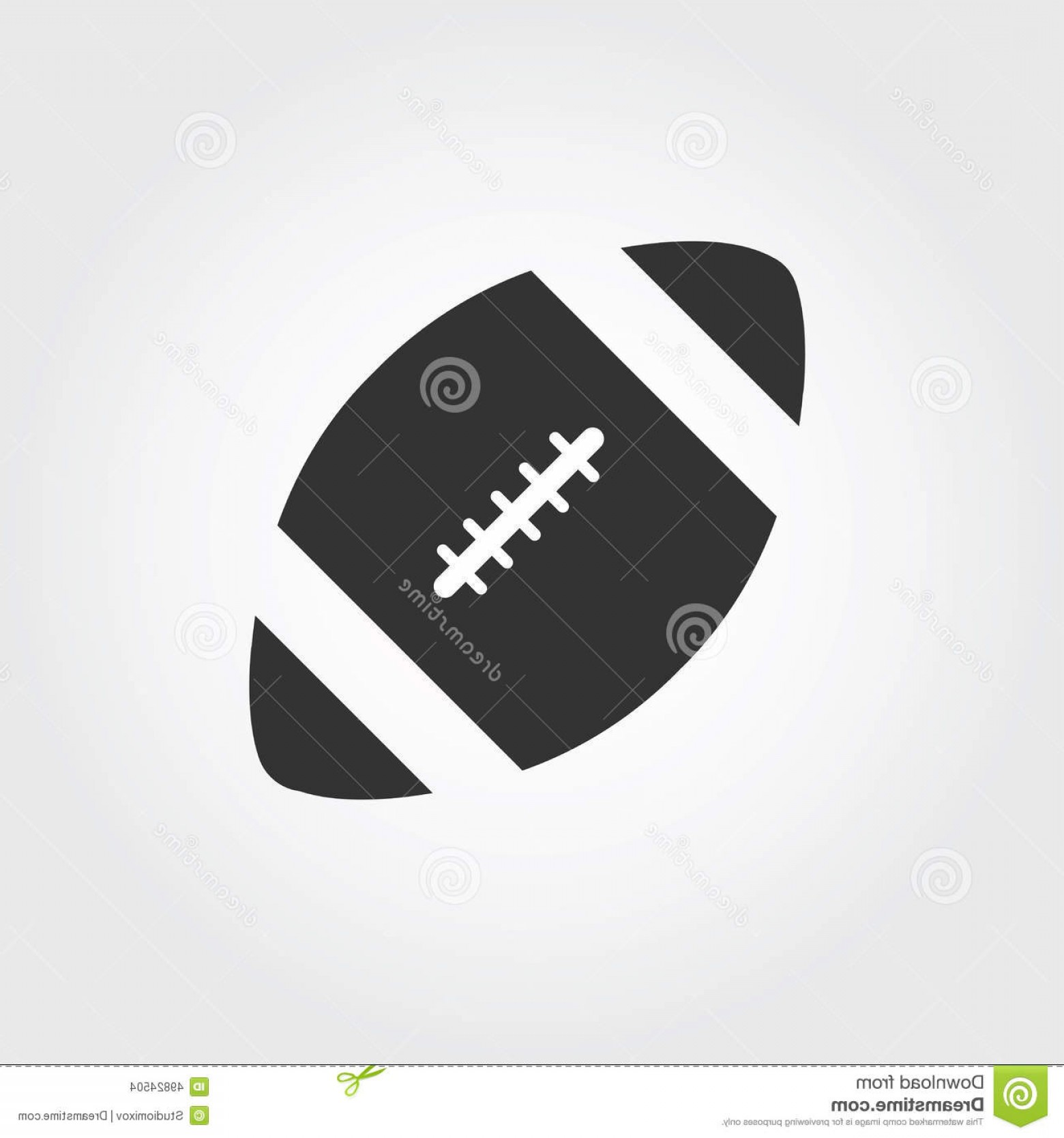 Black And White Vector American Football: Stock Illustration American Football Icon Flat Design Vector Image